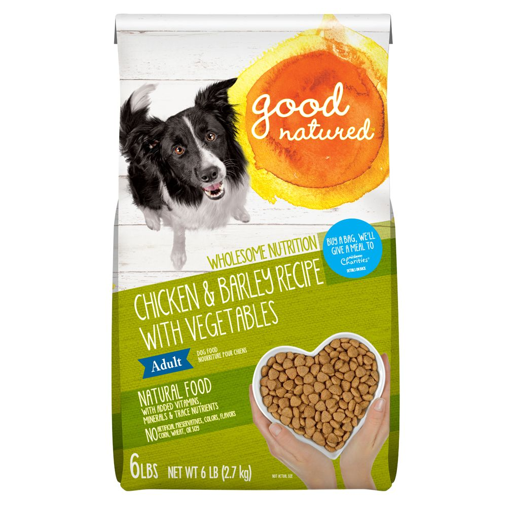 Good Natured Adult Dog Food Natural Chicken And Barley Size 6 Lb