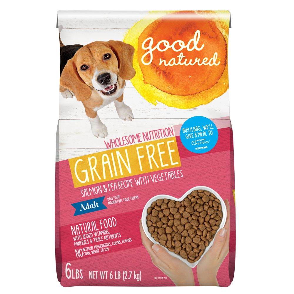 Good Natured Adult Dog Food Grain Free Natural Salmon And Peas Size 6 Lb