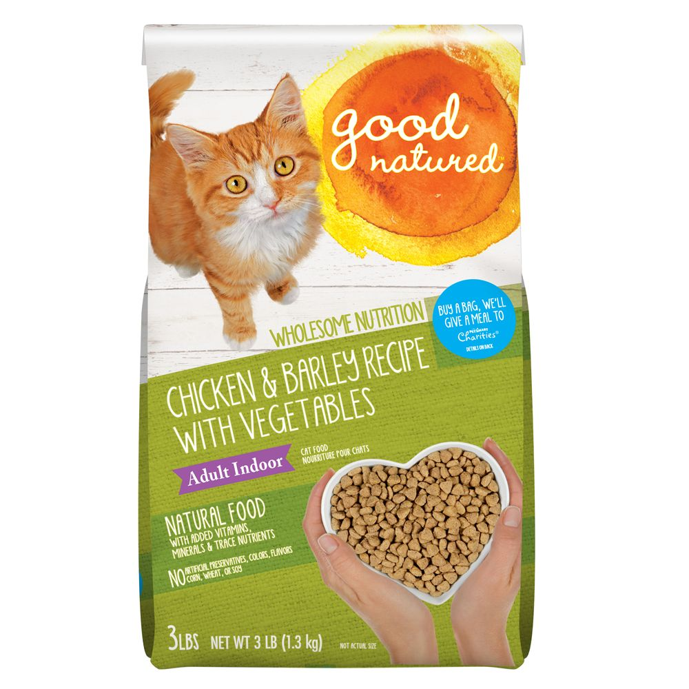 Good Natured Adult Indoor Cat Food Natural Chicken And Barley Size 3 Lb
