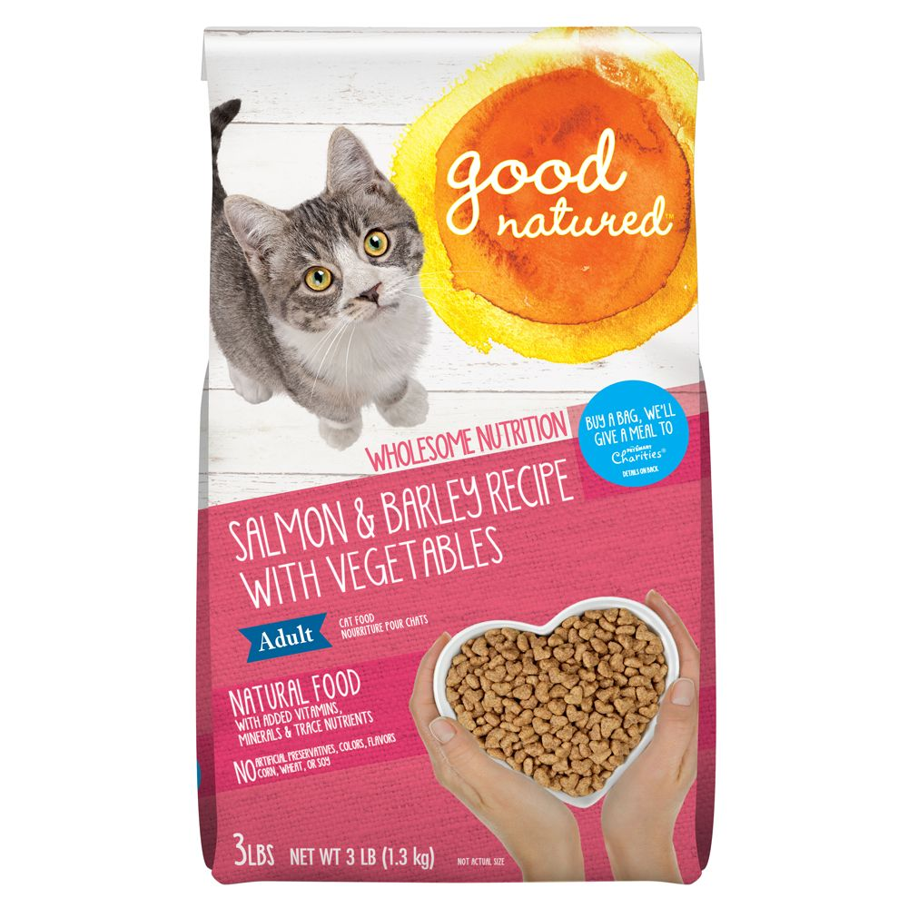 Good Natured Adult Cat Food Natural Salmon And Barley Size 3 Lb