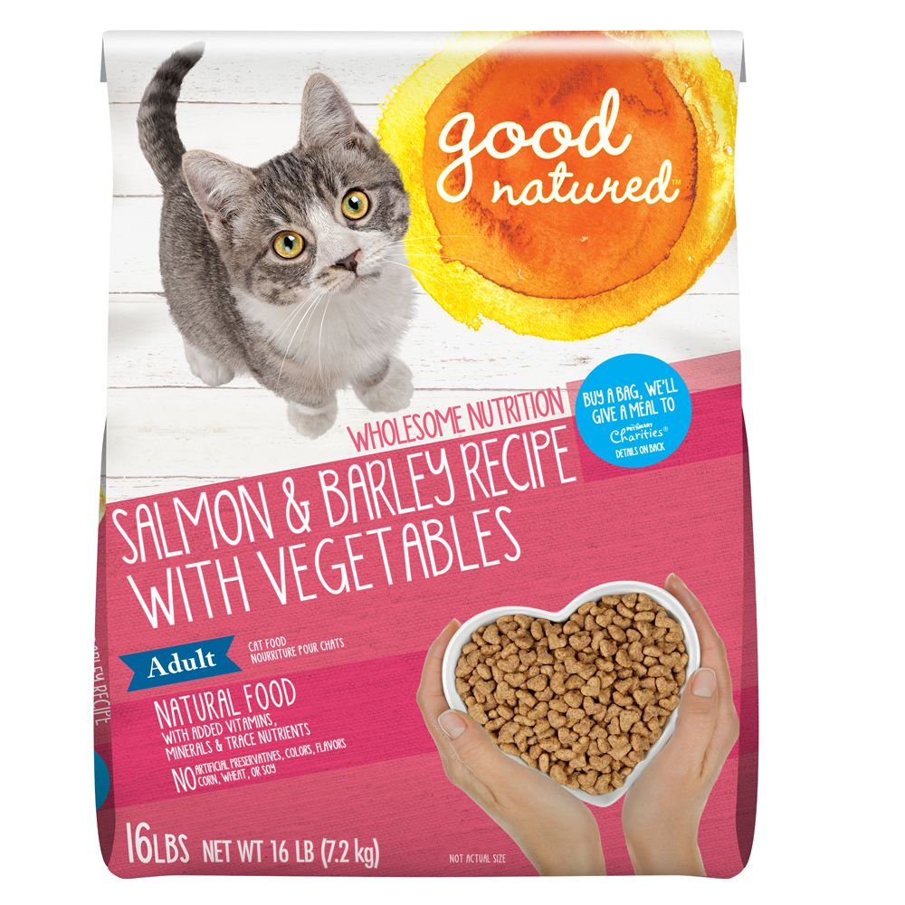 Good Natured Adult Cat Food Natural Salmon And Barley Size 16 Lb
