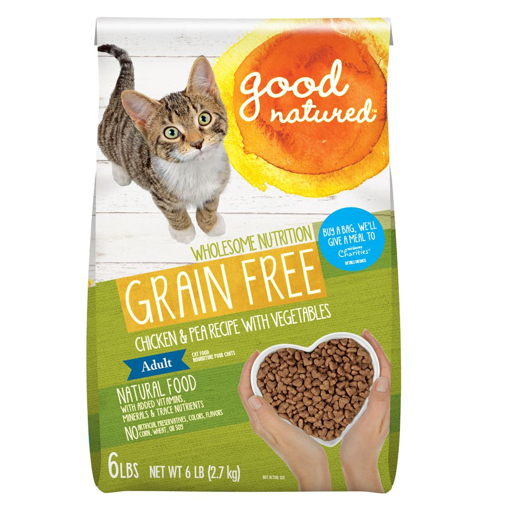 Good Natured Adult Cat Food Grain Free Natural Chicken And Peas Size 6 Lb