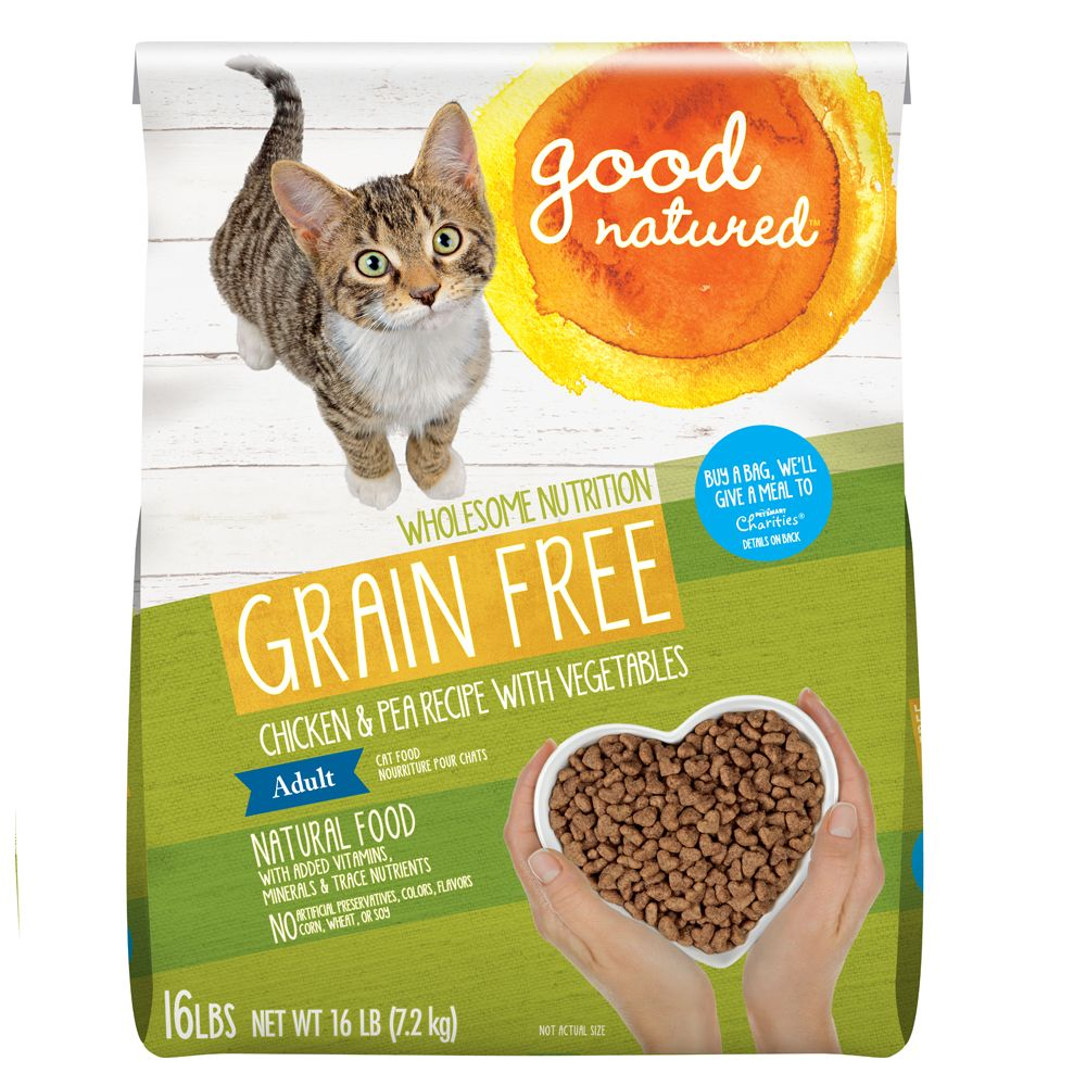 Good Natured Adult Cat Food Grain Free Natural Chicken And Peas Size 16 Lb
