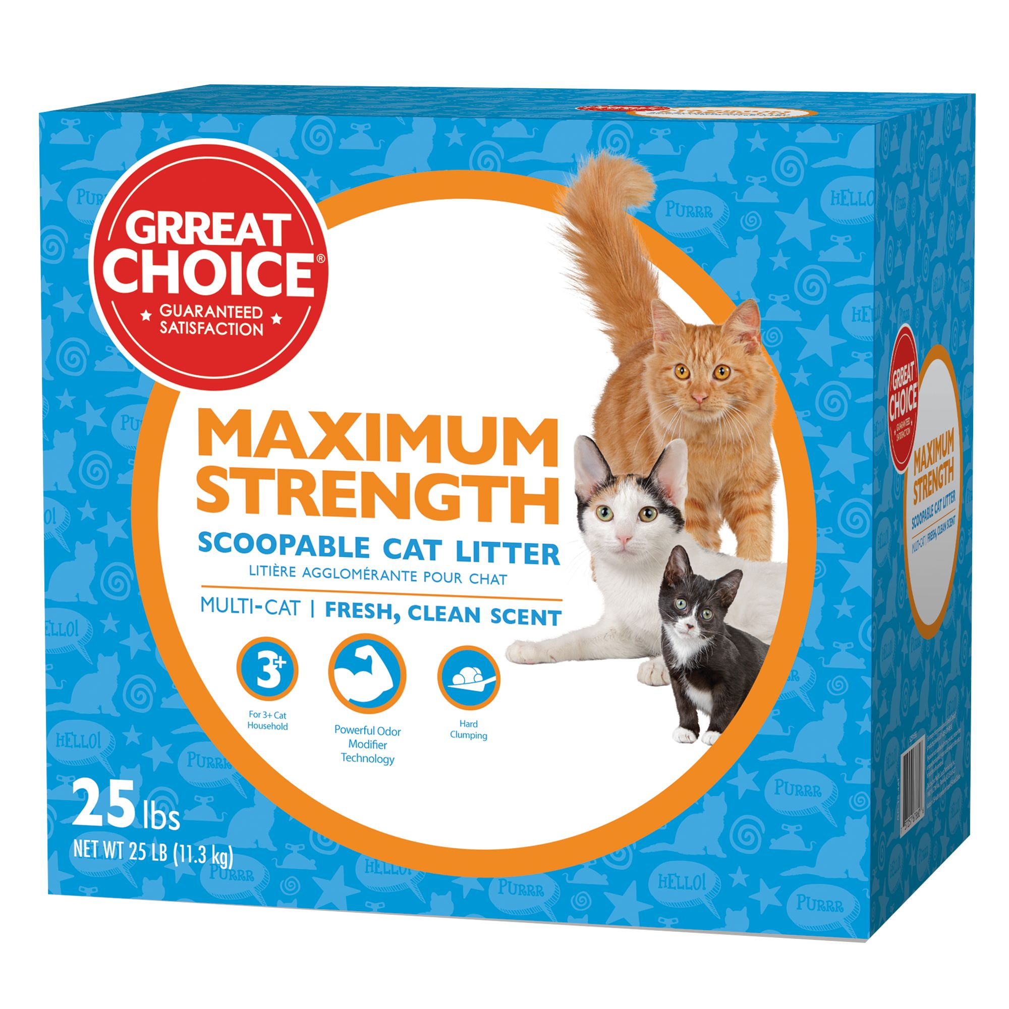 Grreat Choice Maximun Strength Cat Litter - Scoopable, Multi-Cat, Fresh Scent size: 40 Lb 5237044