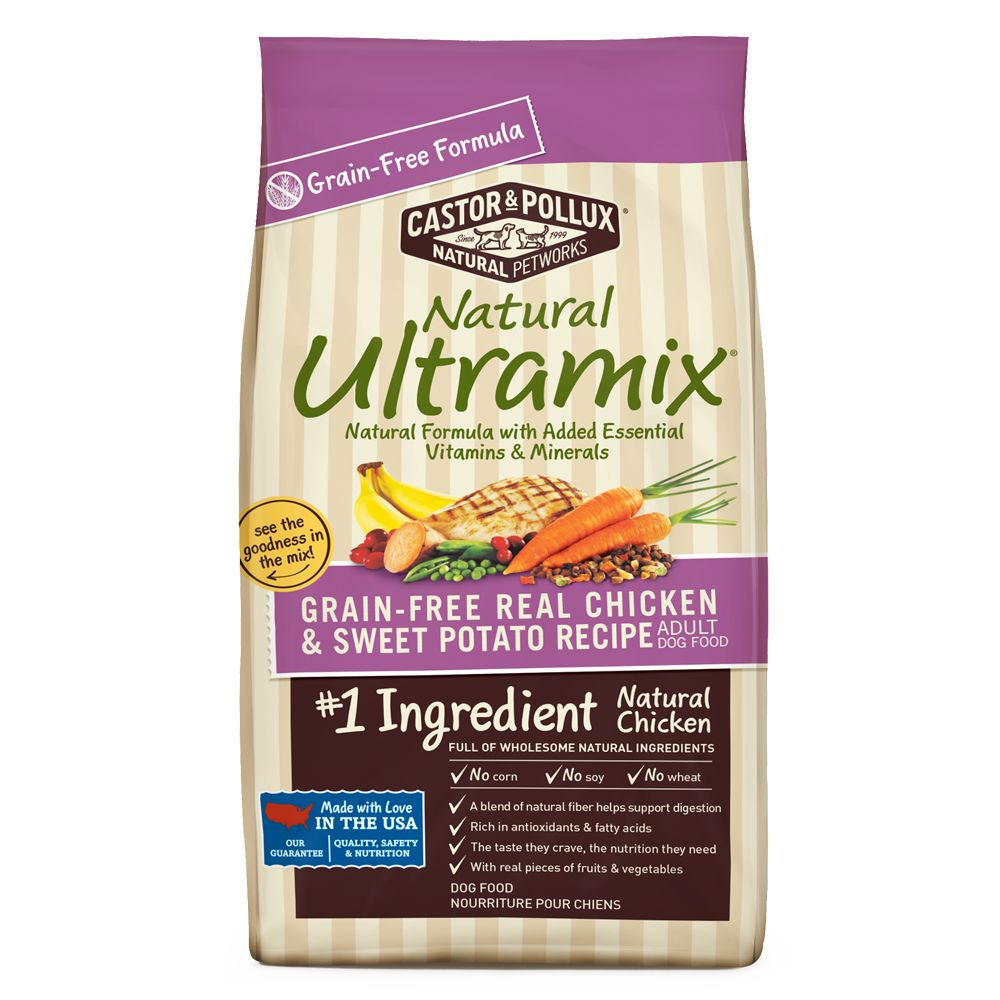 Castor and Pollux Natural Ultramix Adult Dog Food - Grain Free, Chicken and Sweet Potato size: 5.5 Lb, Castor & Pollux 5237280