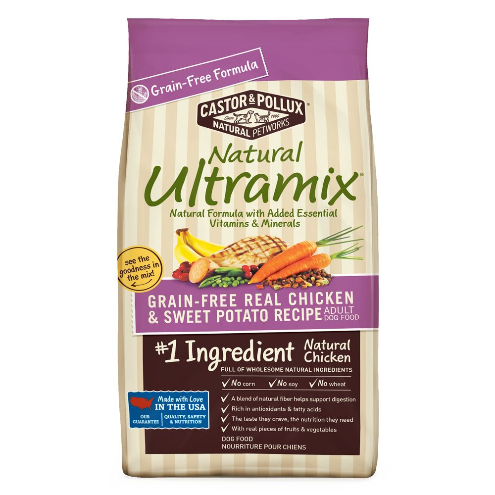 Castor and Pollux Natural Ultramix Adult Dog Food - Grain Free, Chicken and Sweet Potato size: 25 Lb 5237281