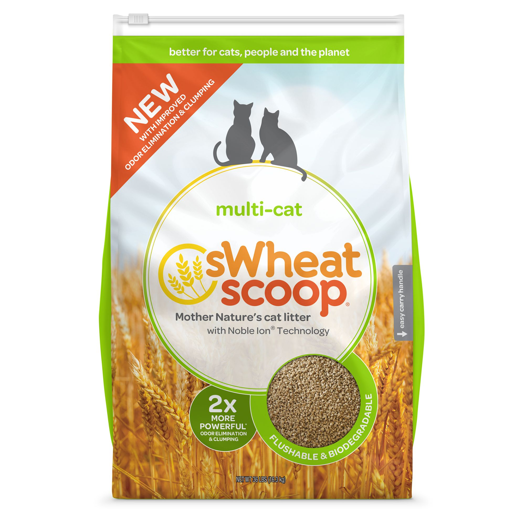 Swheat Scoop Natural Clumping Multi Cat Litter Size 36 Lb