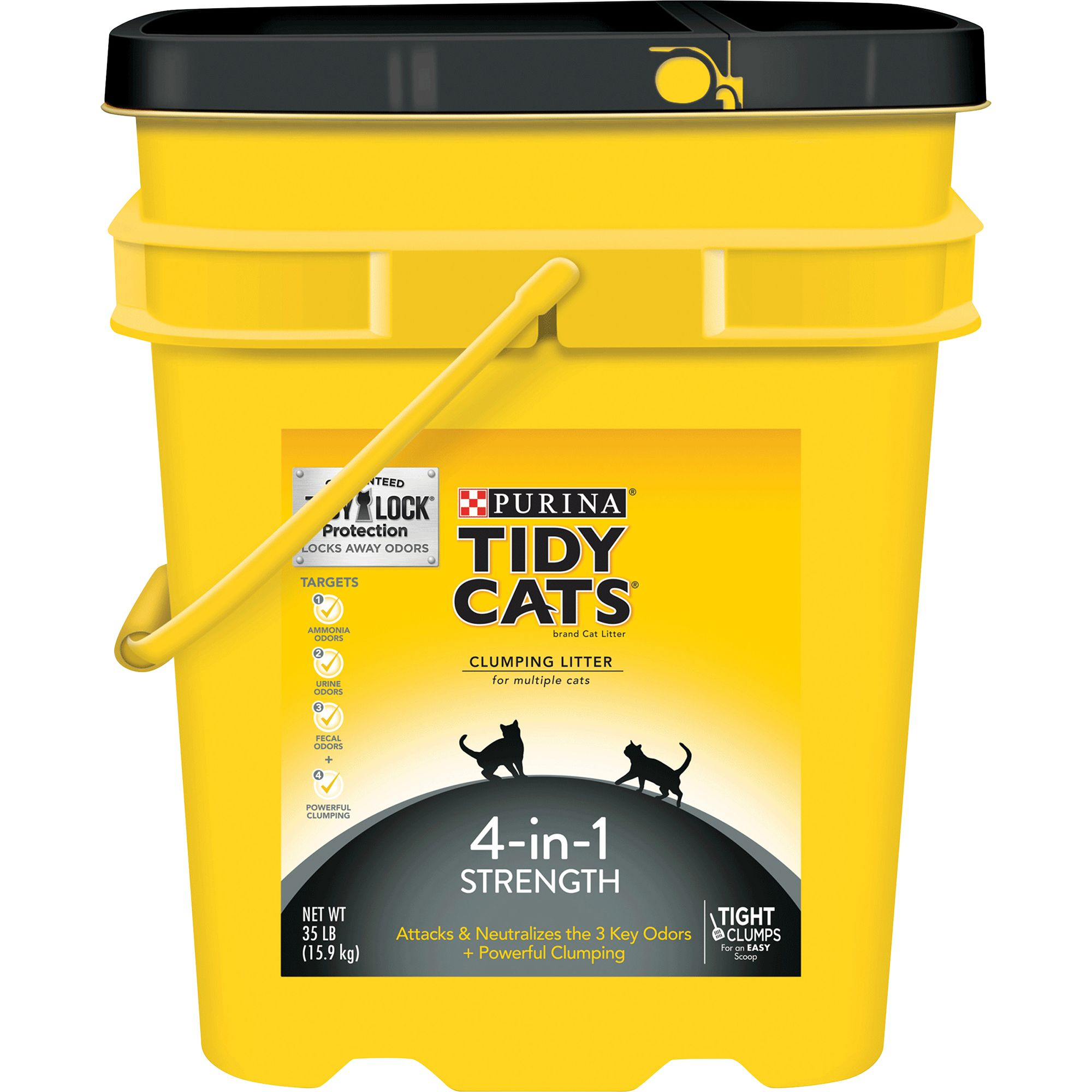 Purina Tidy Cats 4 In 1 Strength Cat Litter Clumping Multi Cat Size 35 Lb