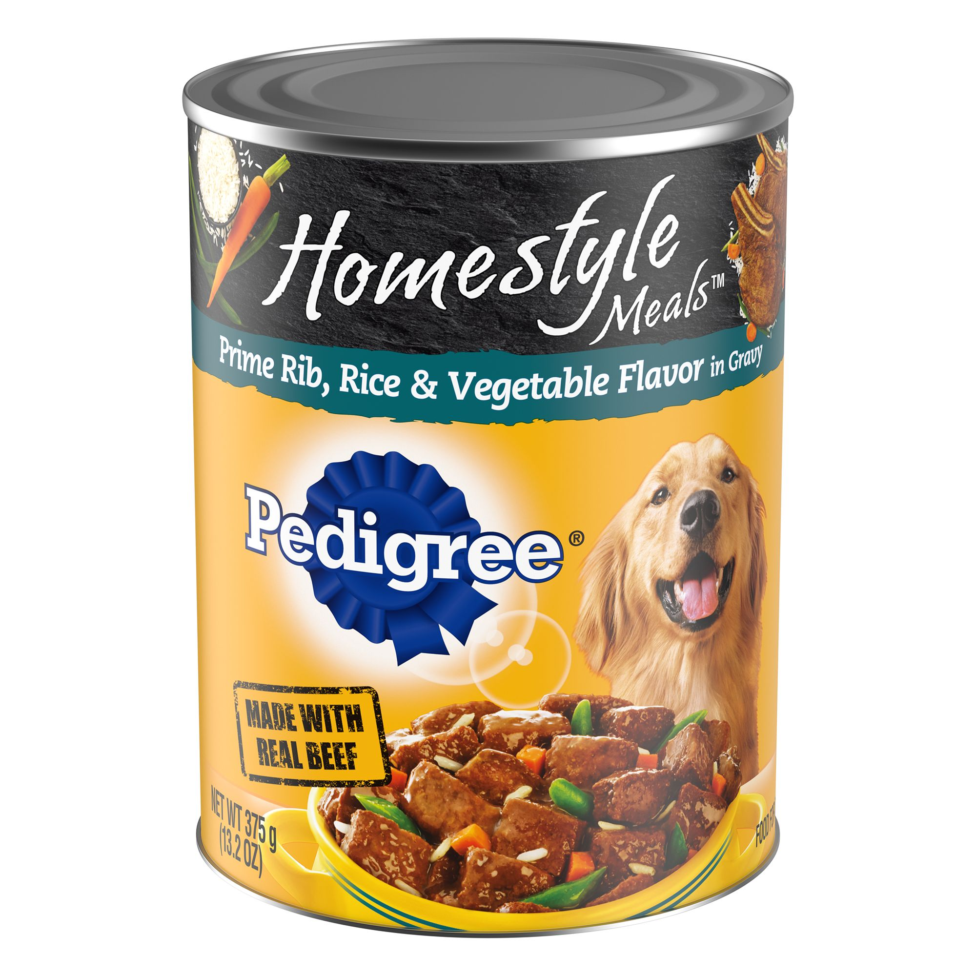 Pedigree Homestyle Meals Adult Dog Food - Prime Rib, Rice and Vegetable size: 13.2 Oz 5237618