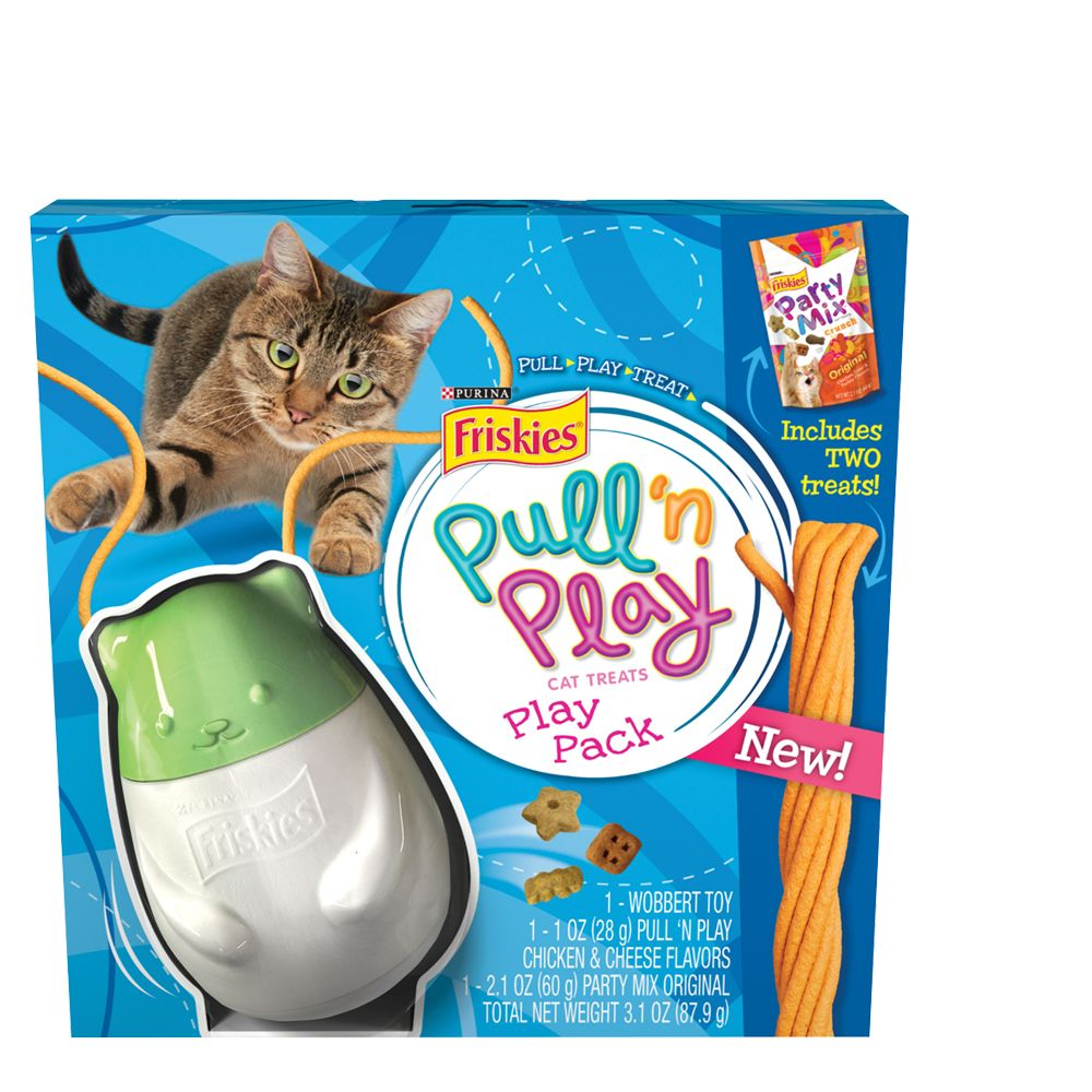 Purina Friskies Pull N Play Cat Treat Play Pack