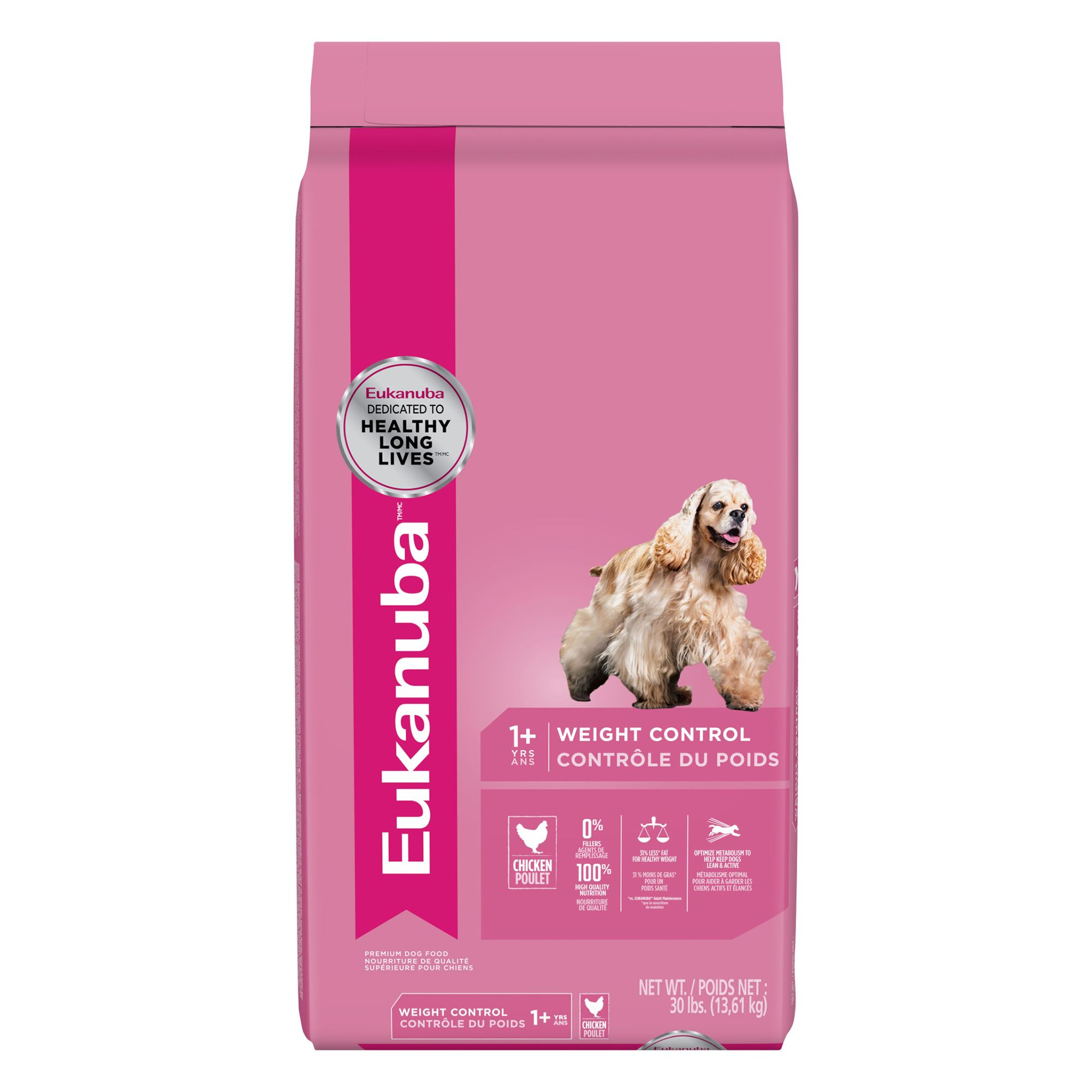 Eukanuba Adult Dog Food Chicken Weight Control Size 30 Lb