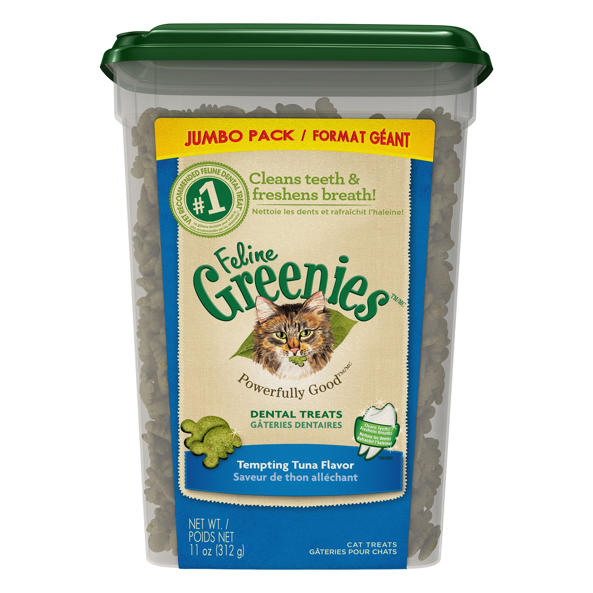 Feline Greenies® Dental Cat Treat - Tempting Tuna size:
