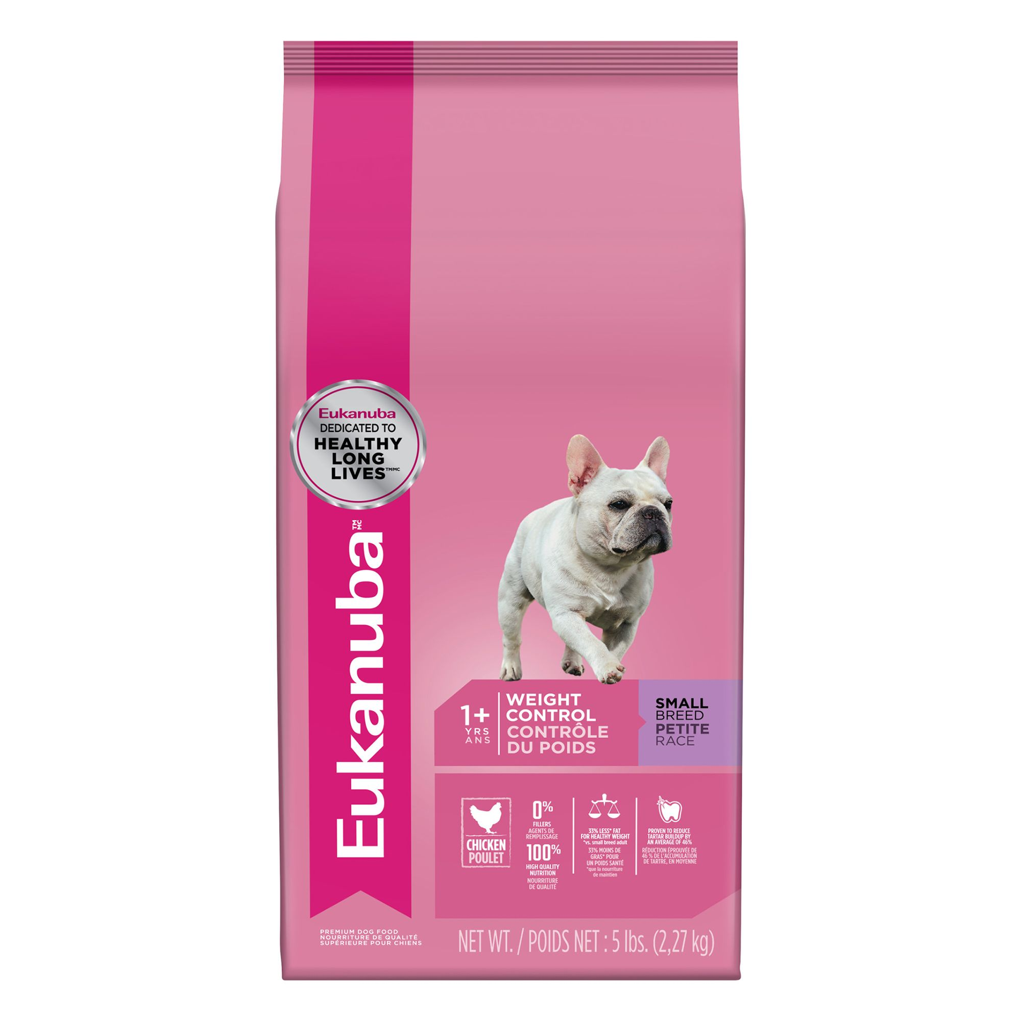 Eukanuba Adult Dog Food Chicken Weight Control Small Breed Size 5 Lb
