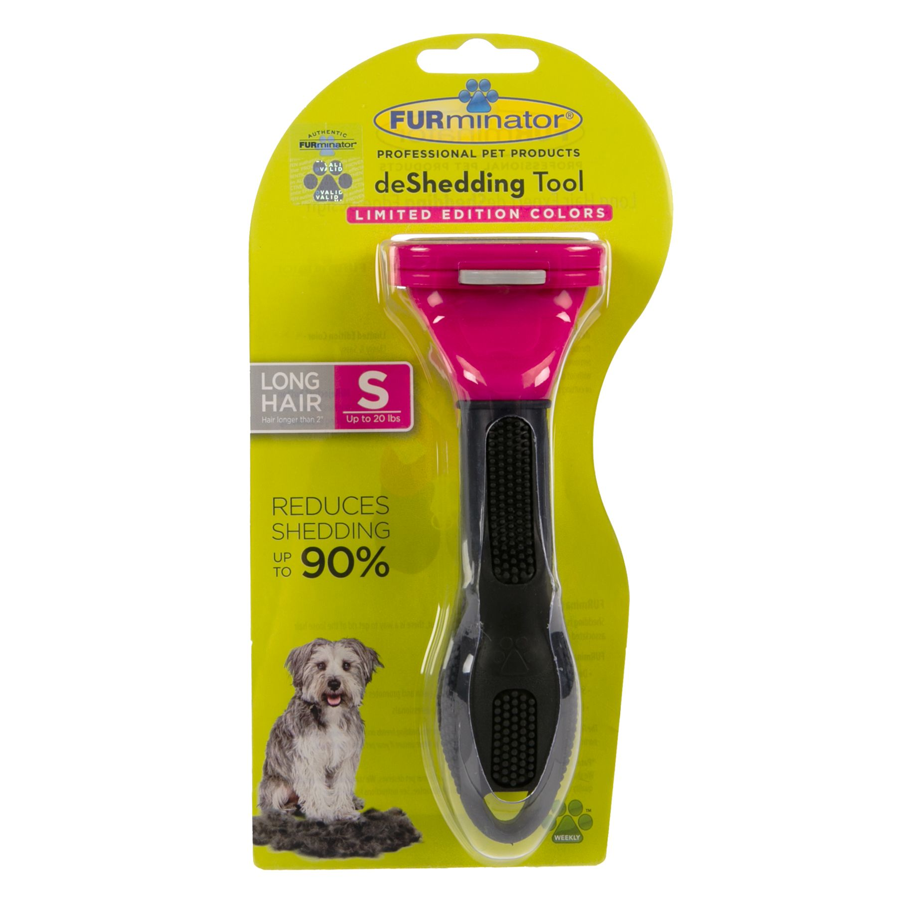 FURminator deShedding Long Haired Dog Tool size: Small 5238715