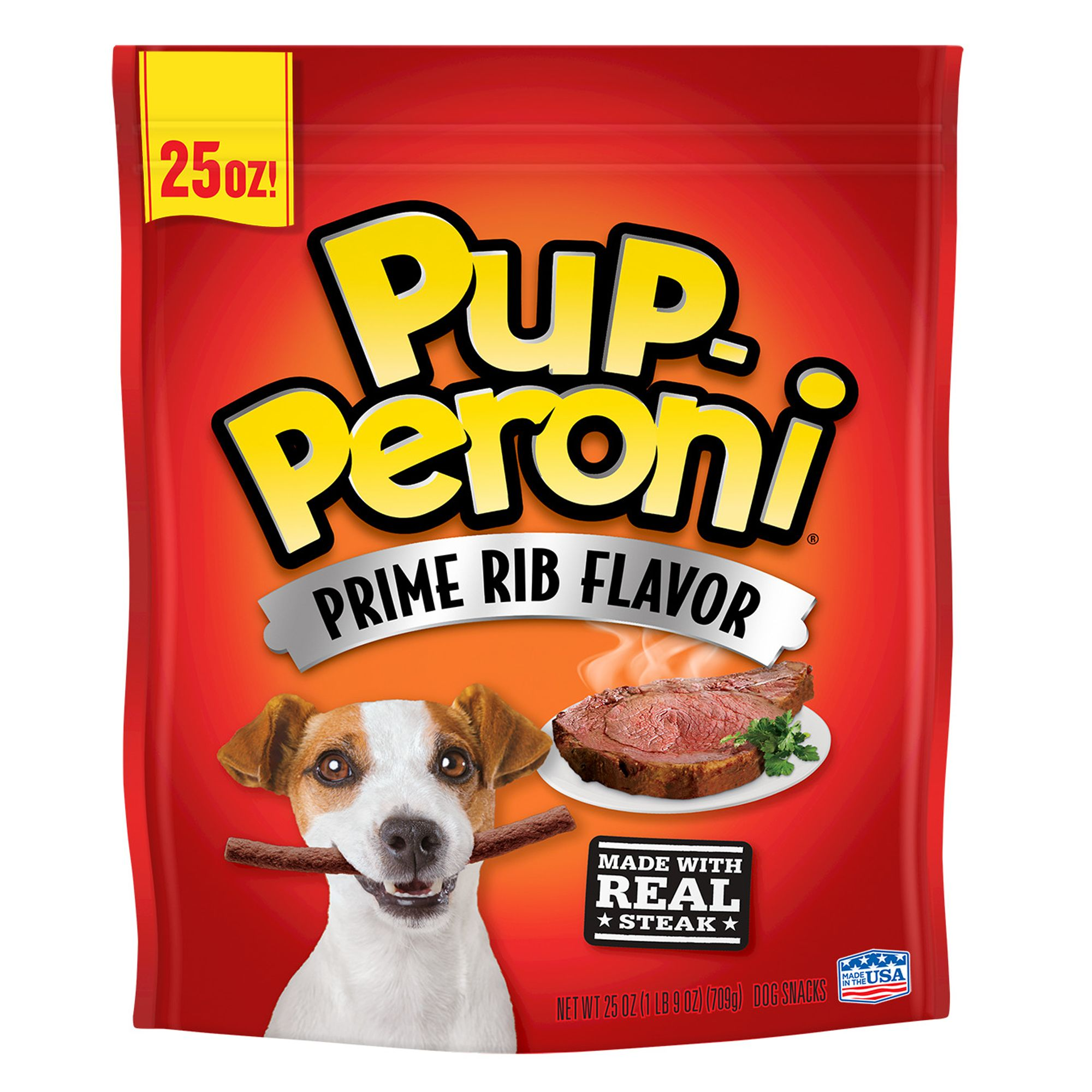 Pup-Peroni Dog Treat - Prime Rib size: 25 Oz, Chewy Treat, All Life Stages, Beef 5238770