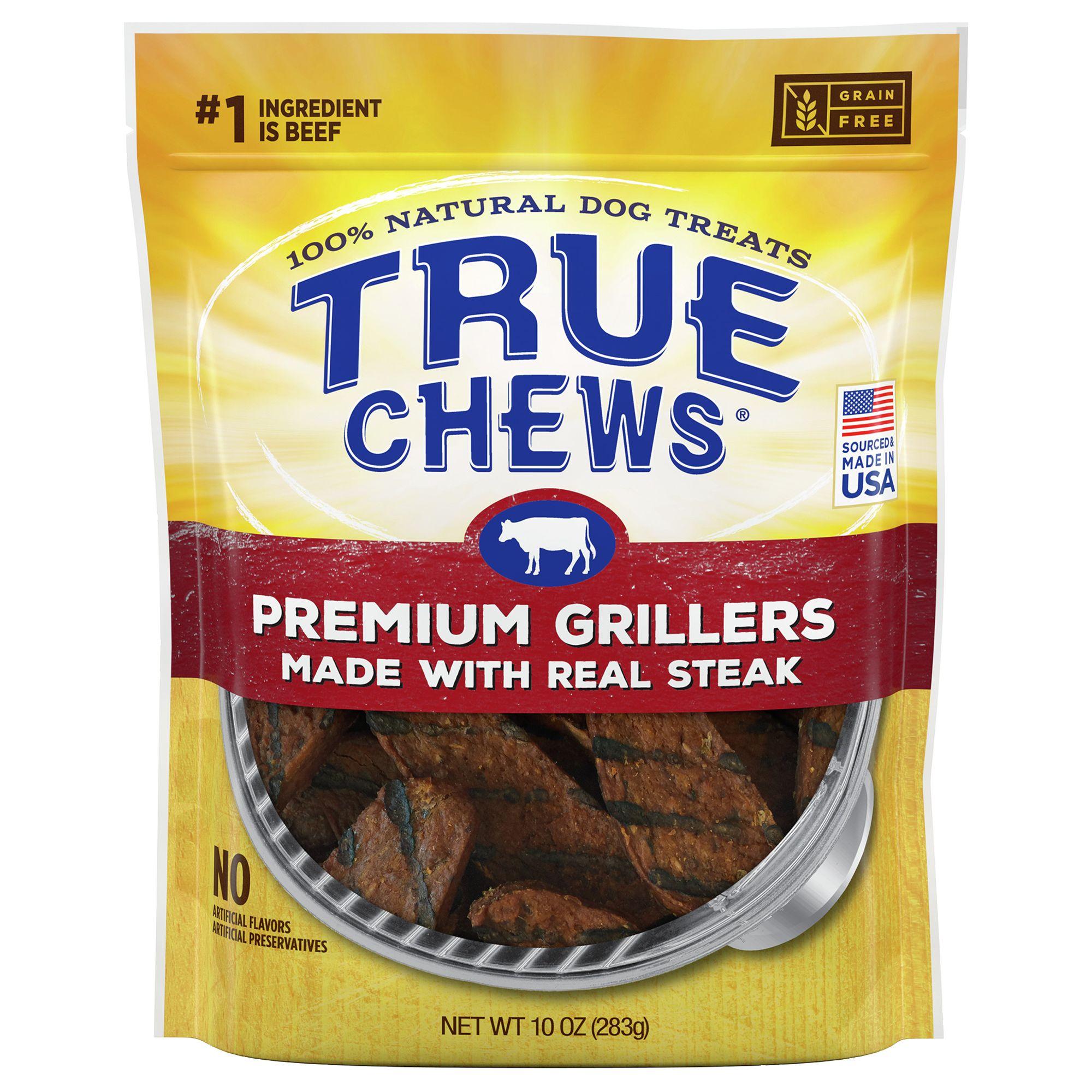 True Chews Premium Grillers Dog Treat Natural Sirloin Steak Size 12 Oz
