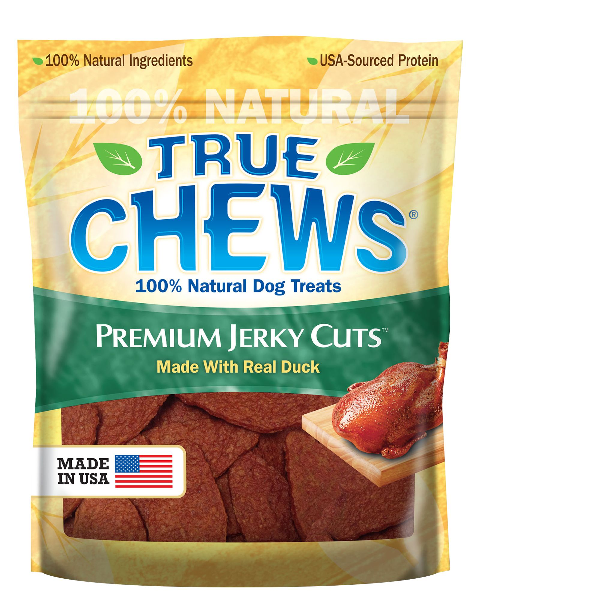 True Chews Premium Jerky Cuts Dog Treat Natural Duck Size 22 Oz