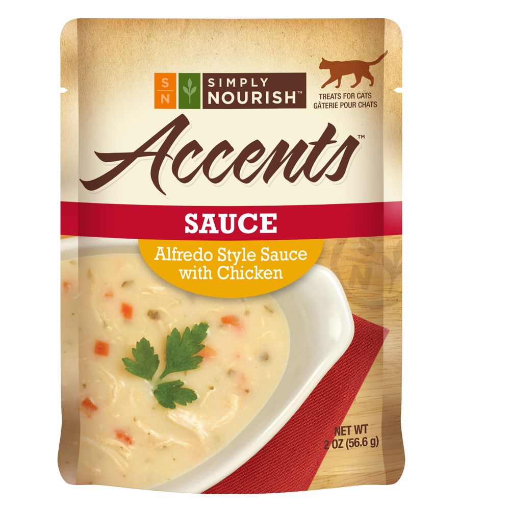 Simply Nourish, Accents Adult Cat Food - Sauce, Alfredo with Chicken size: 2 Oz 5240333