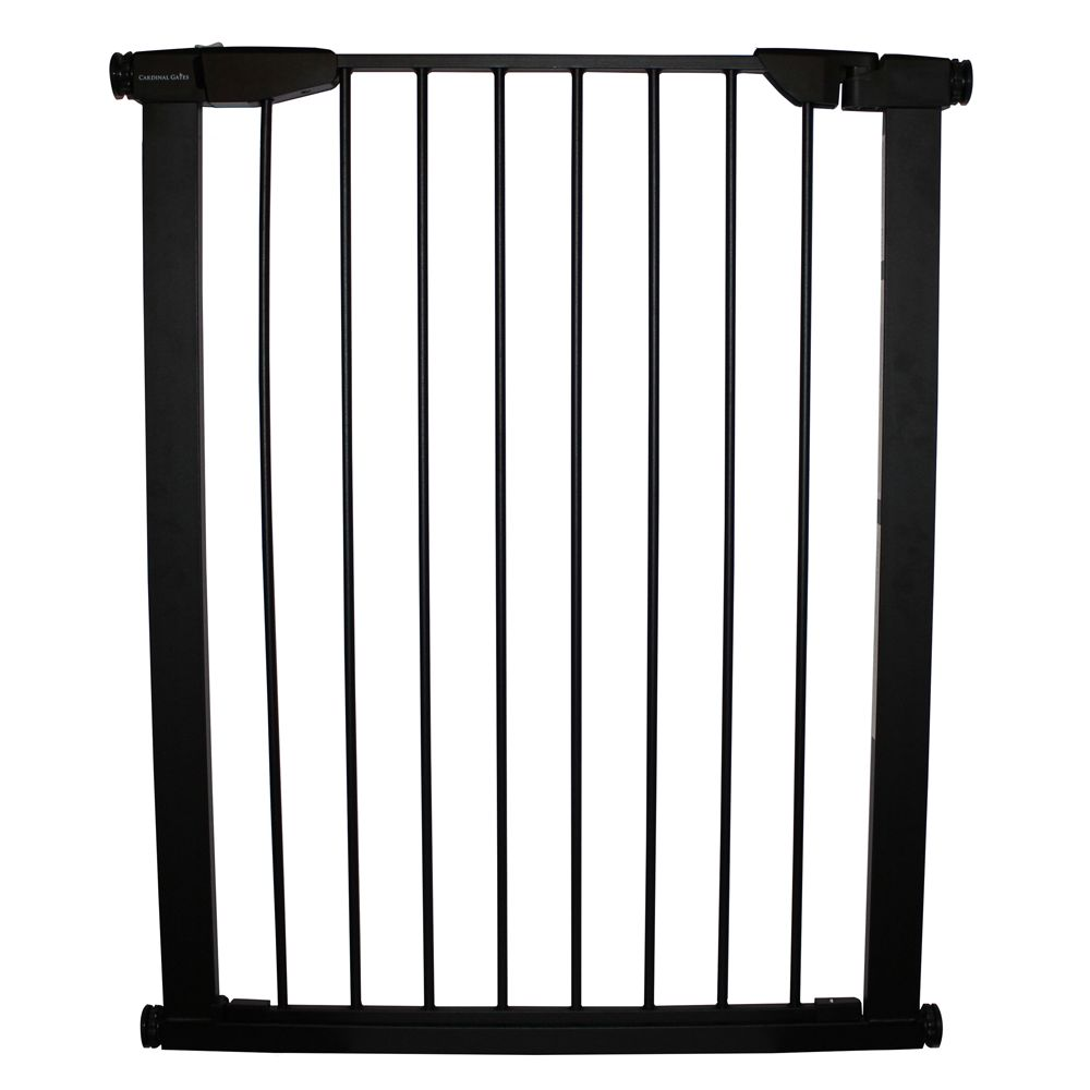 Cardinal Gate Extra Tall Premium Pressure Pet Gate Black Cardinal Gates