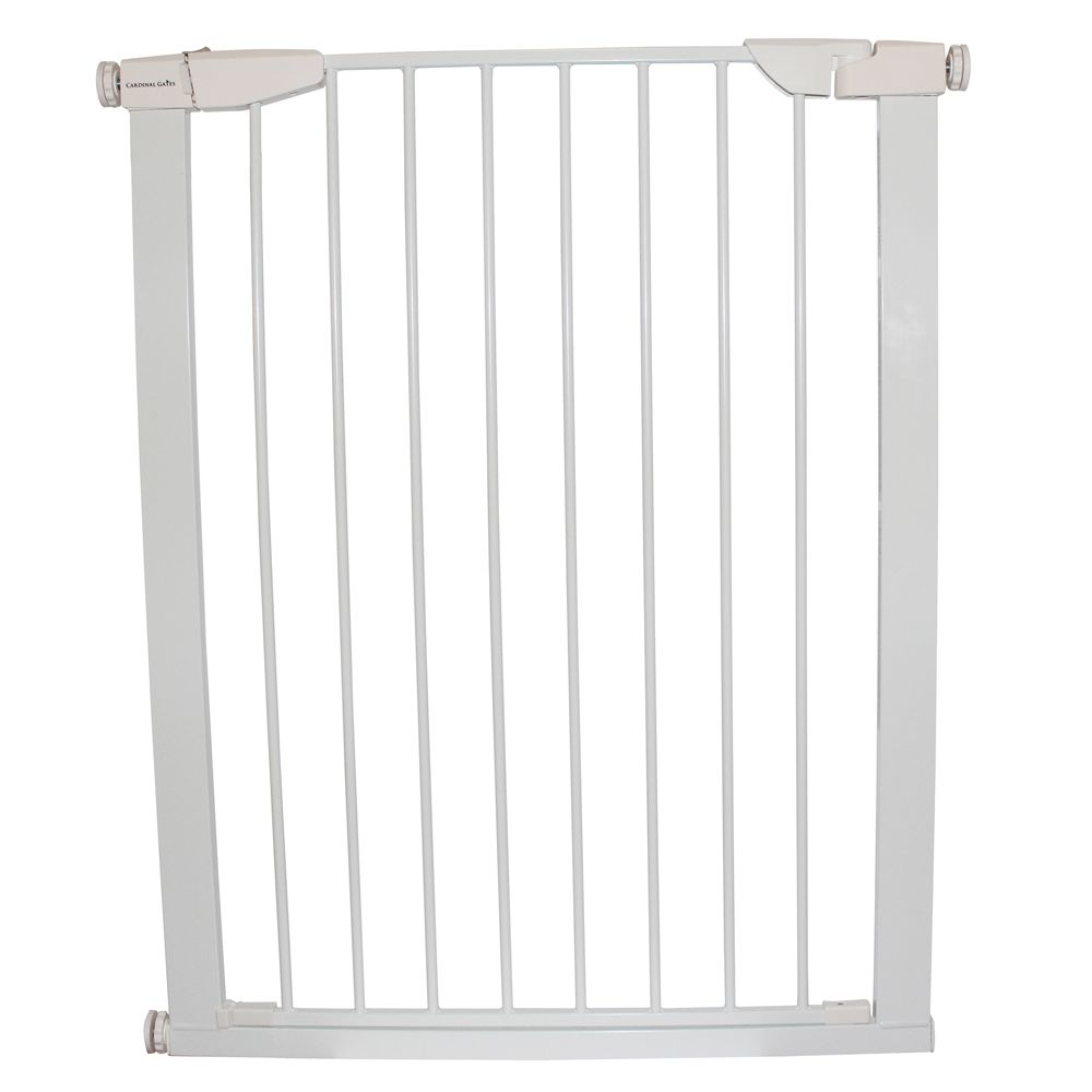 Cardinal Gate Extra Tall Premium Pressure Pet Gate White Cardinal Gates
