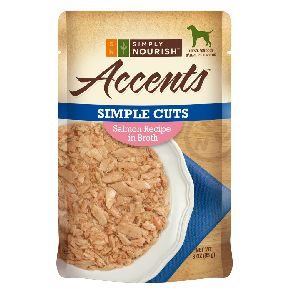 Simply Nourish Accents Adult Dog Food Simple Cuts Salmon Size 3 Oz