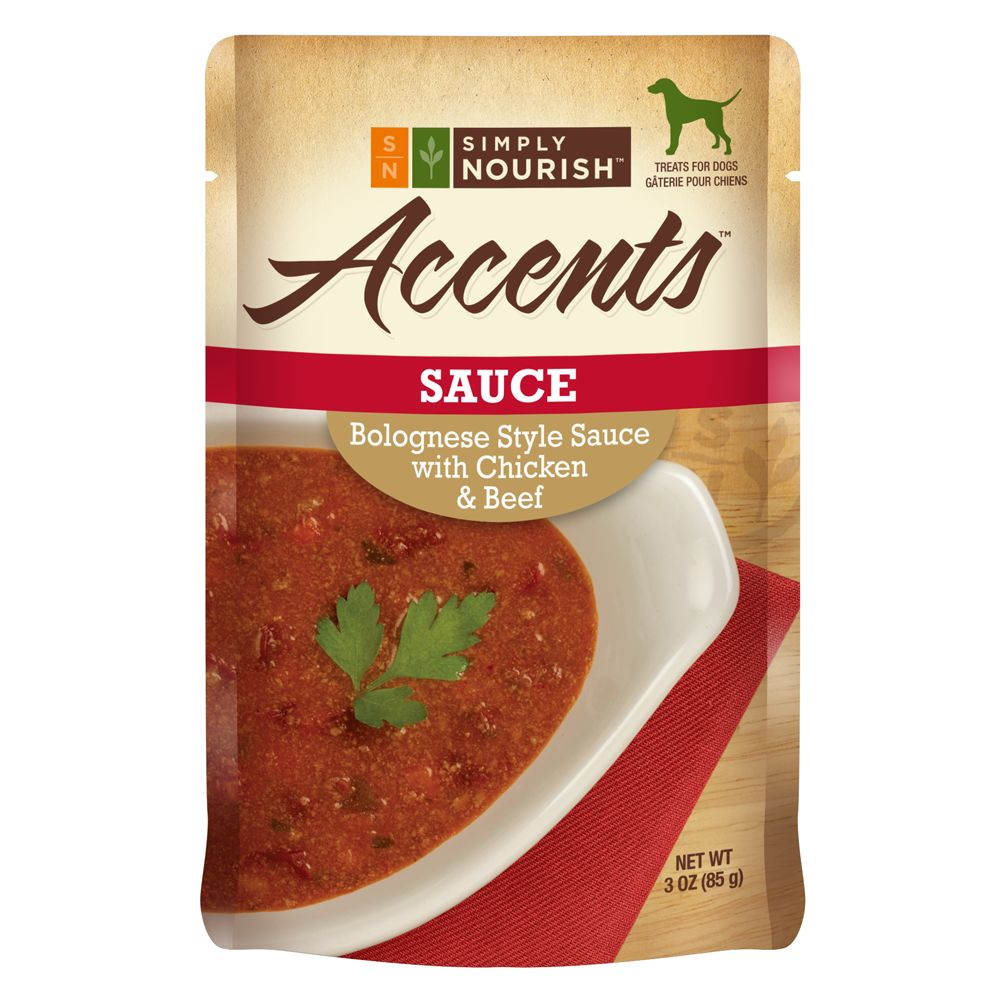 Simply Nourish Accents Adult Dog Food Sauce Bolognese With Chicken And Beef Size 3 Oz