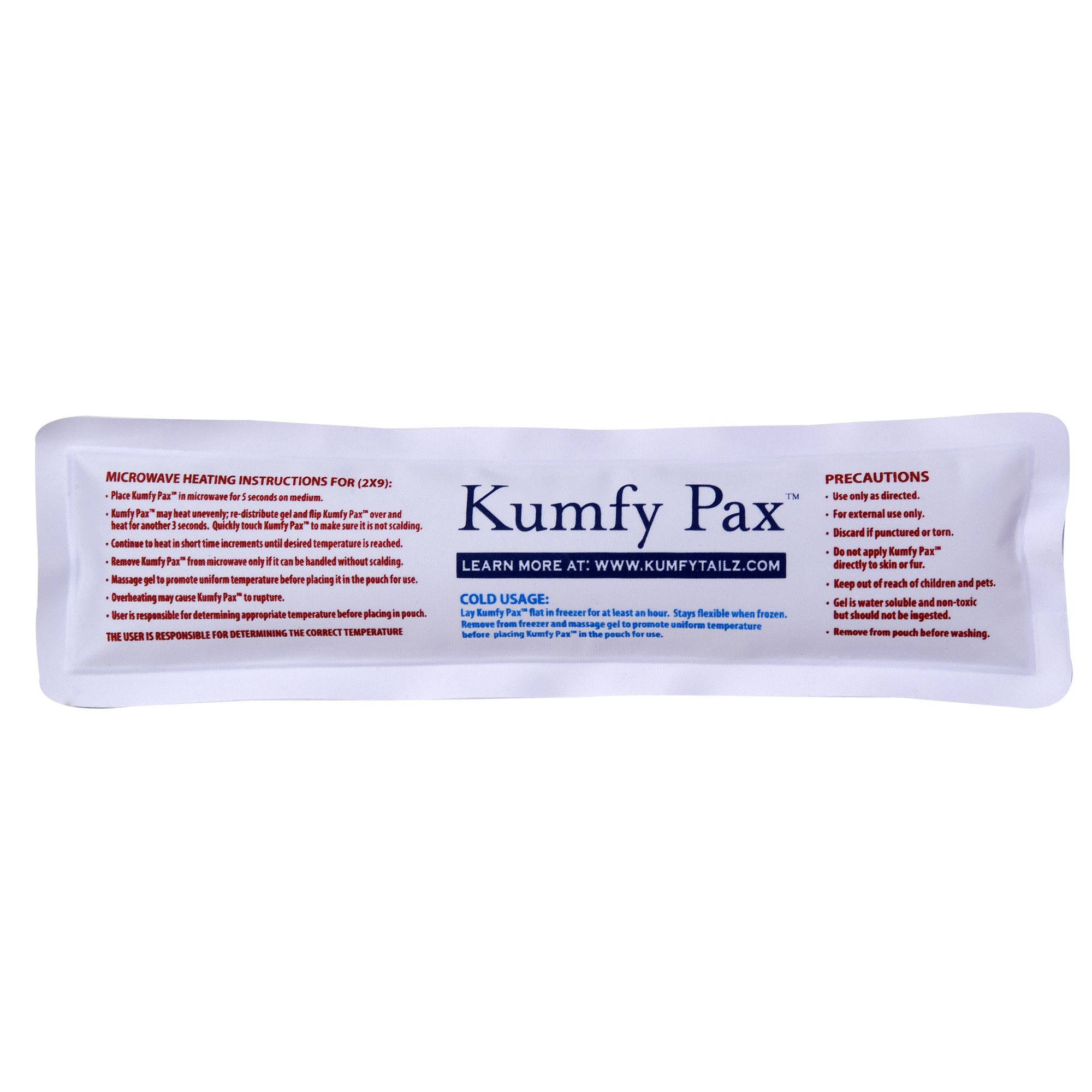 Kumfy Tailz Warming /cooling Replacement Gel Pack Size 2x Small