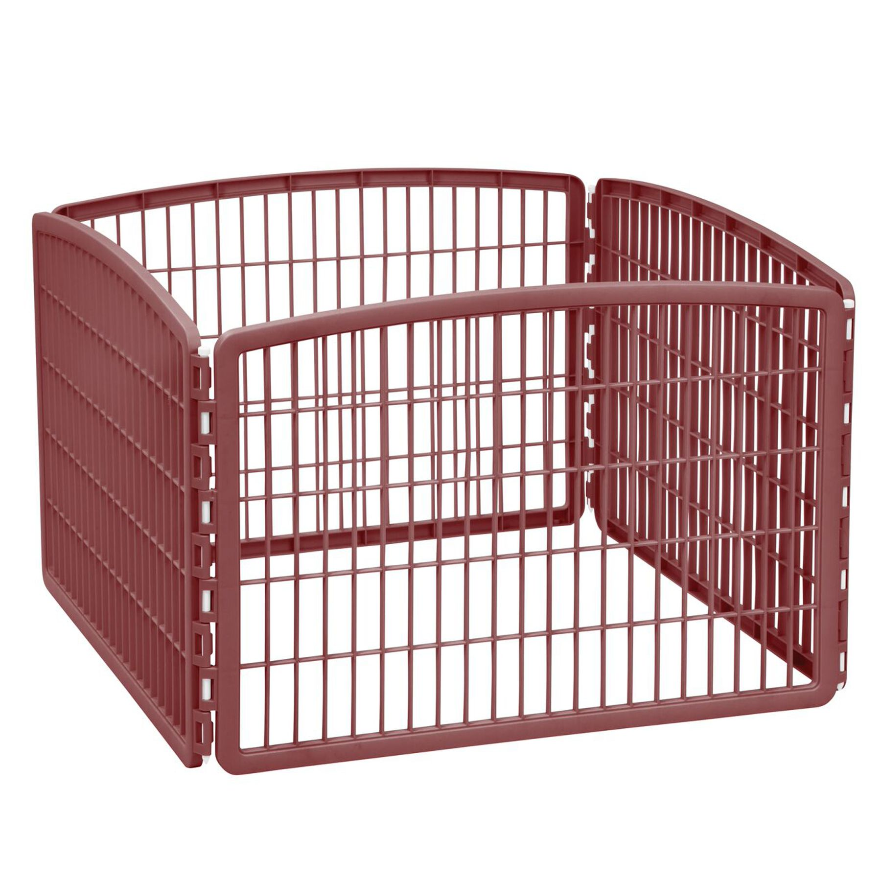 Iris 4 Panel Pet Pen Brown