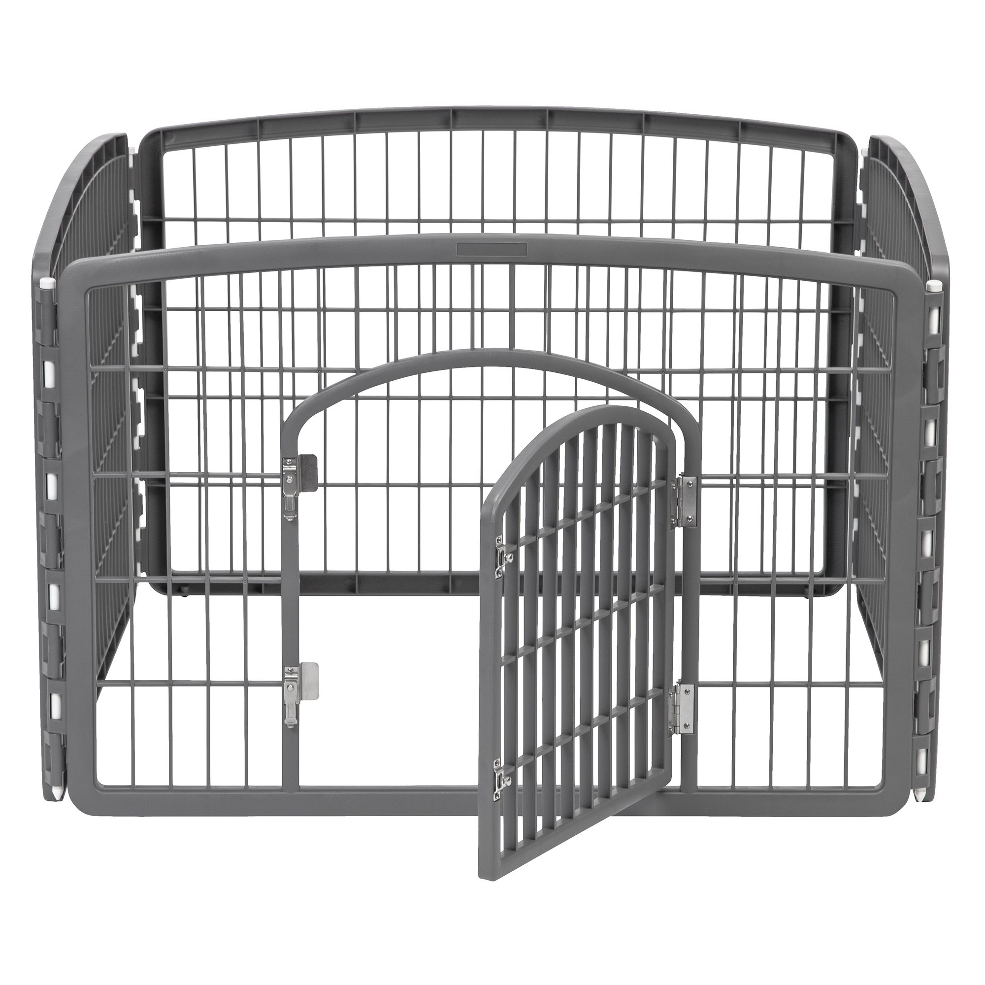 Iris 4 Panel Pet Pen Dark Gray
