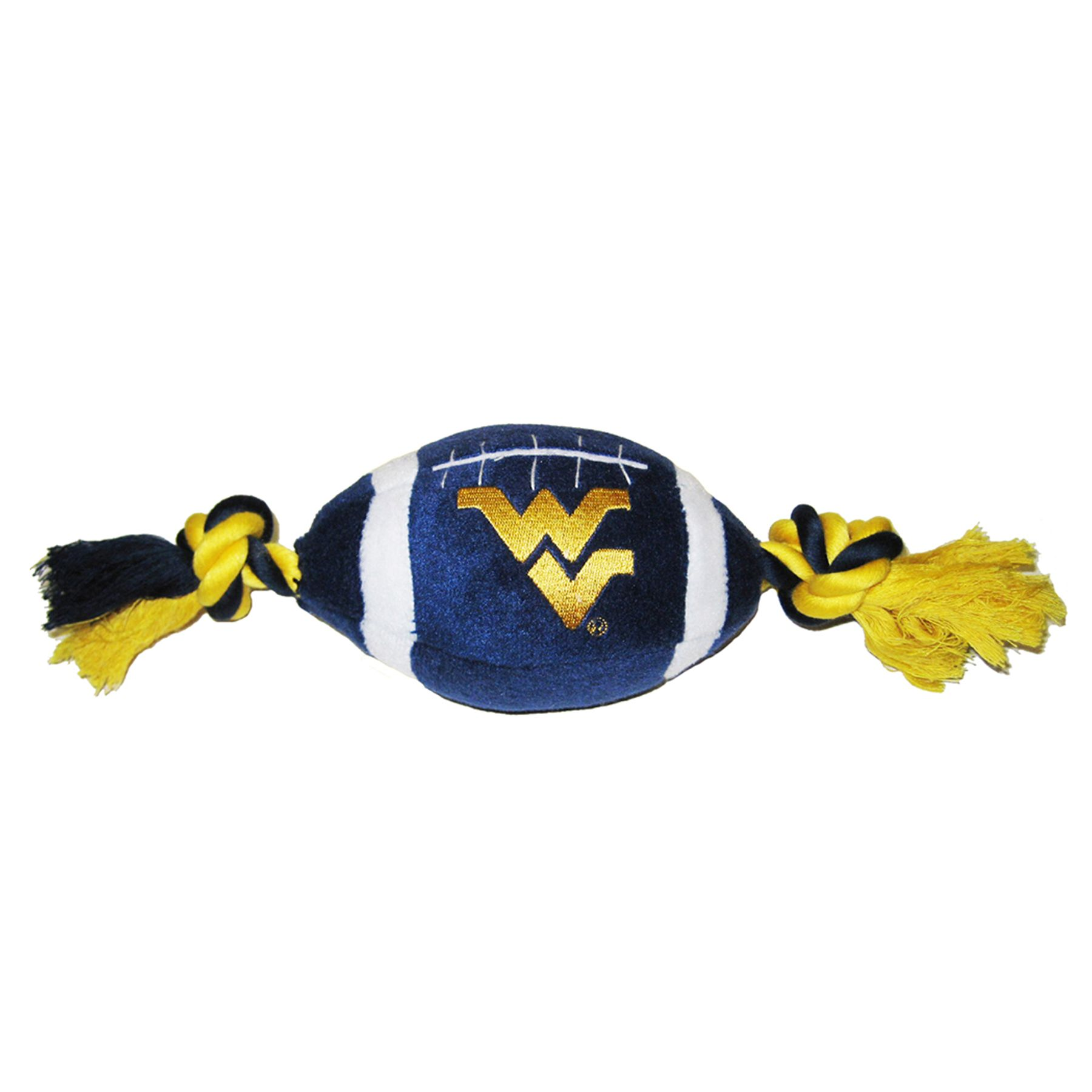 West Virginia Mountaineers Ncaa Football Dog Toy, Pets First 5242750