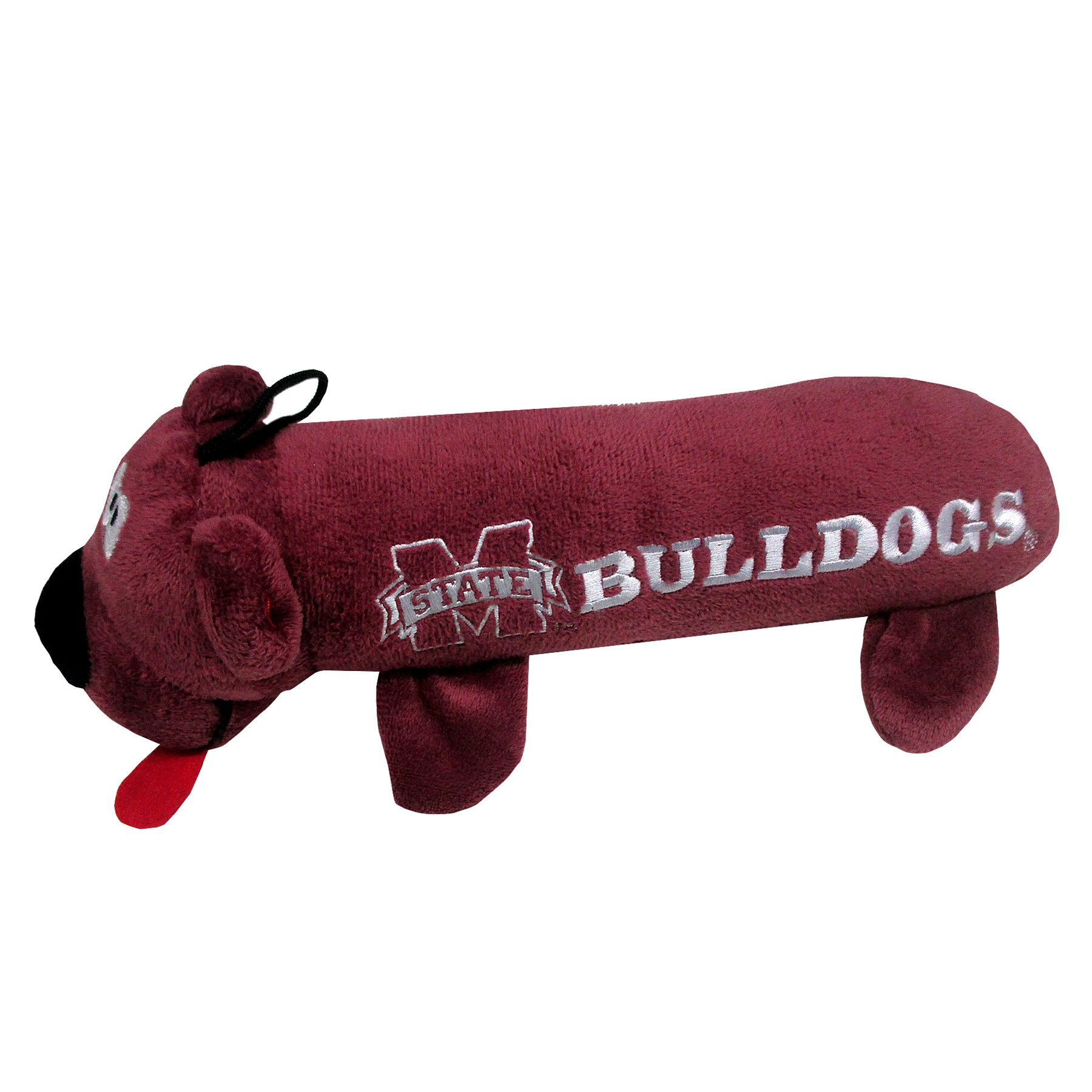 Mississippi State University Bulldogs Ncaa Tube Dog Toy, Pets First 5243451