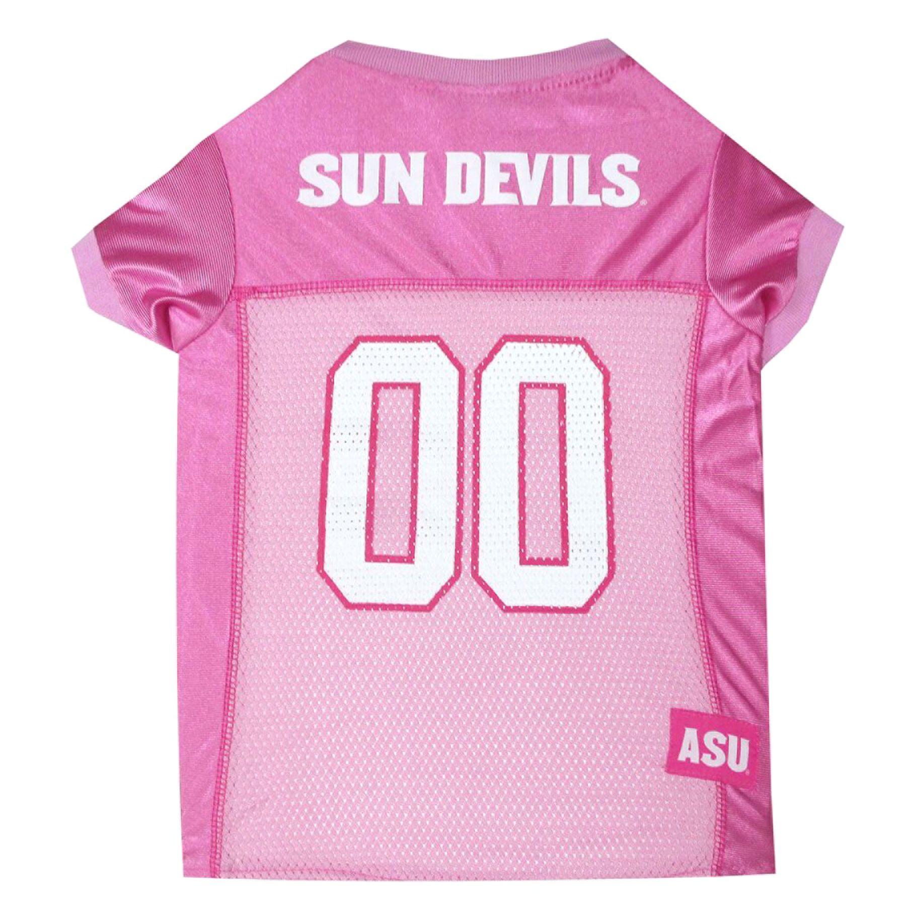 Arizona State University Sun Devils Ncaa Jersey size: X Small, Pink, Pets First 5243740