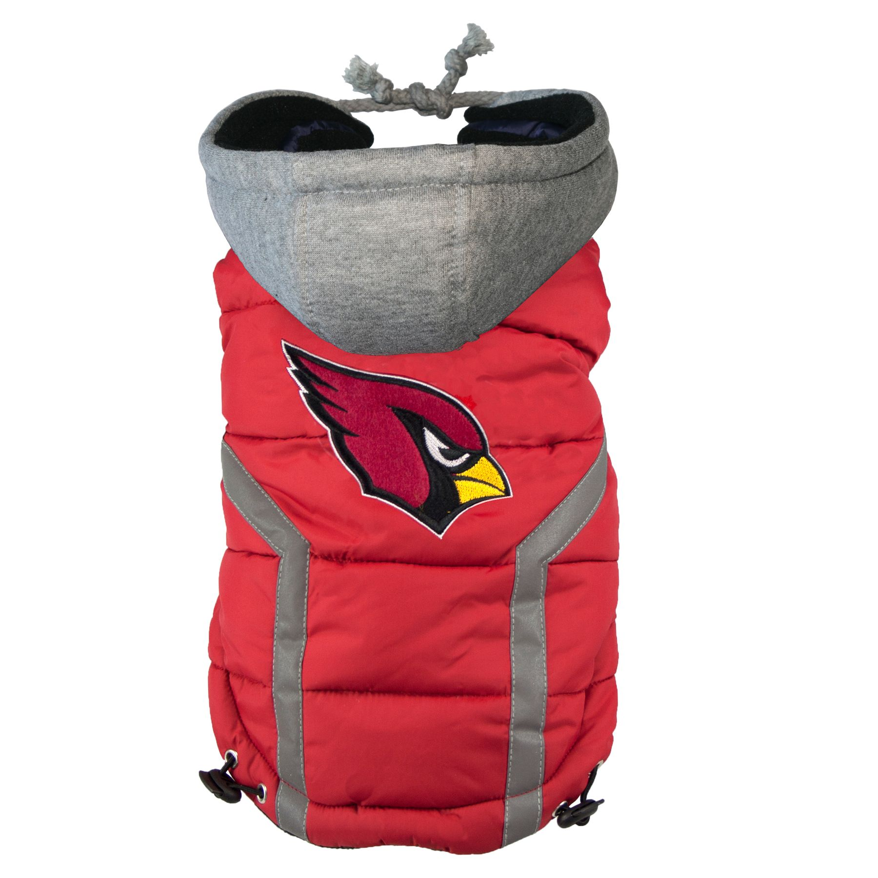 Arizona Cardinals Nfl Puffer Vest Size Medium Hip Doggie
