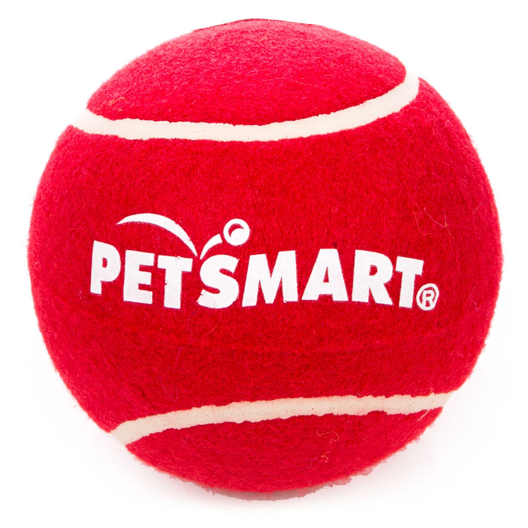 Grreat Choice Petsmart Giant Tennis Ball Red