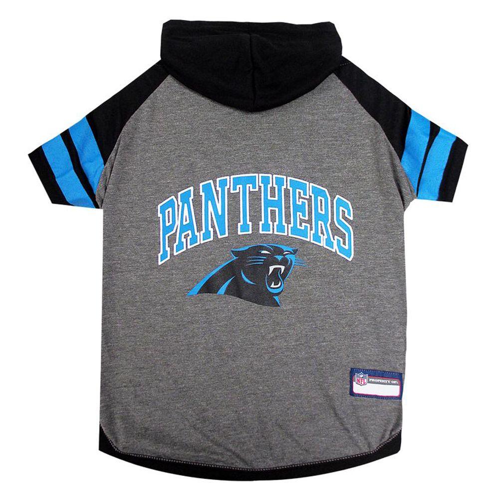 Carolina Panthers Nfl Hoodie Tee Size Medium Pets First