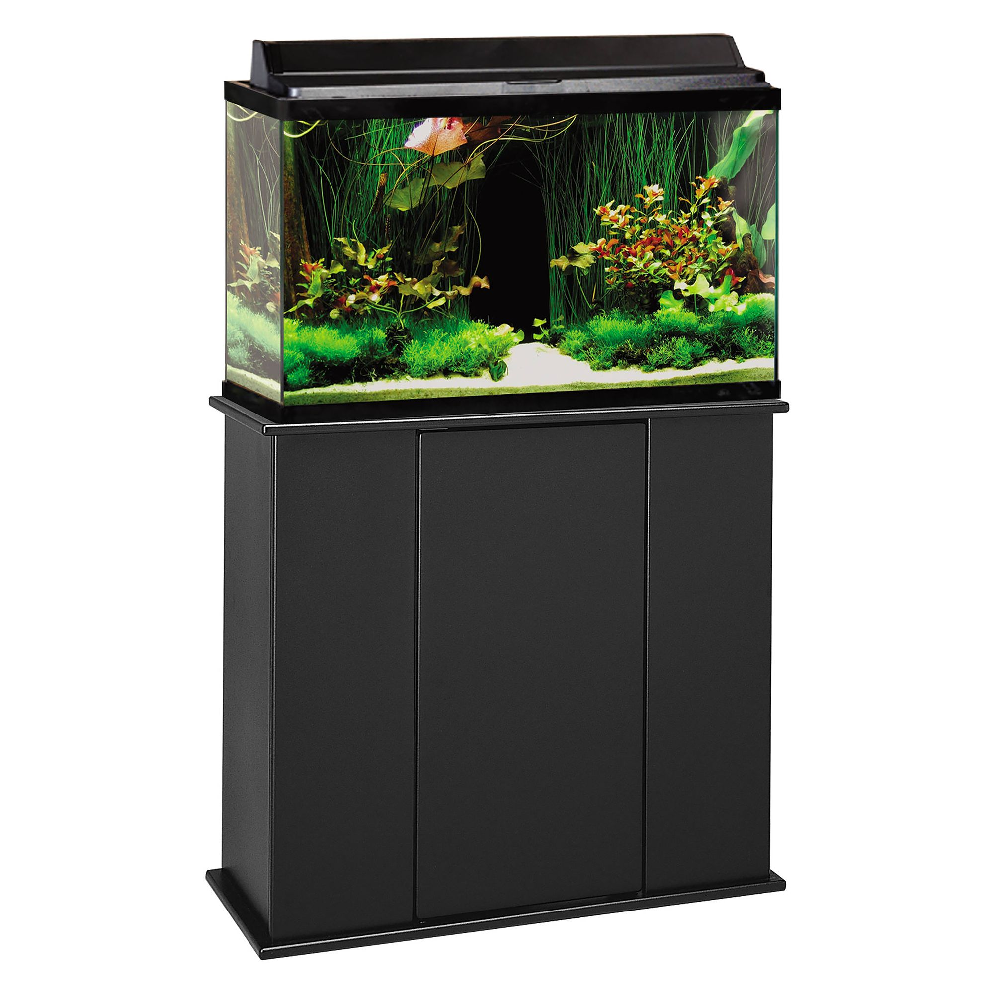 Marco 29 Gallon Upright Aquarium Stand Black