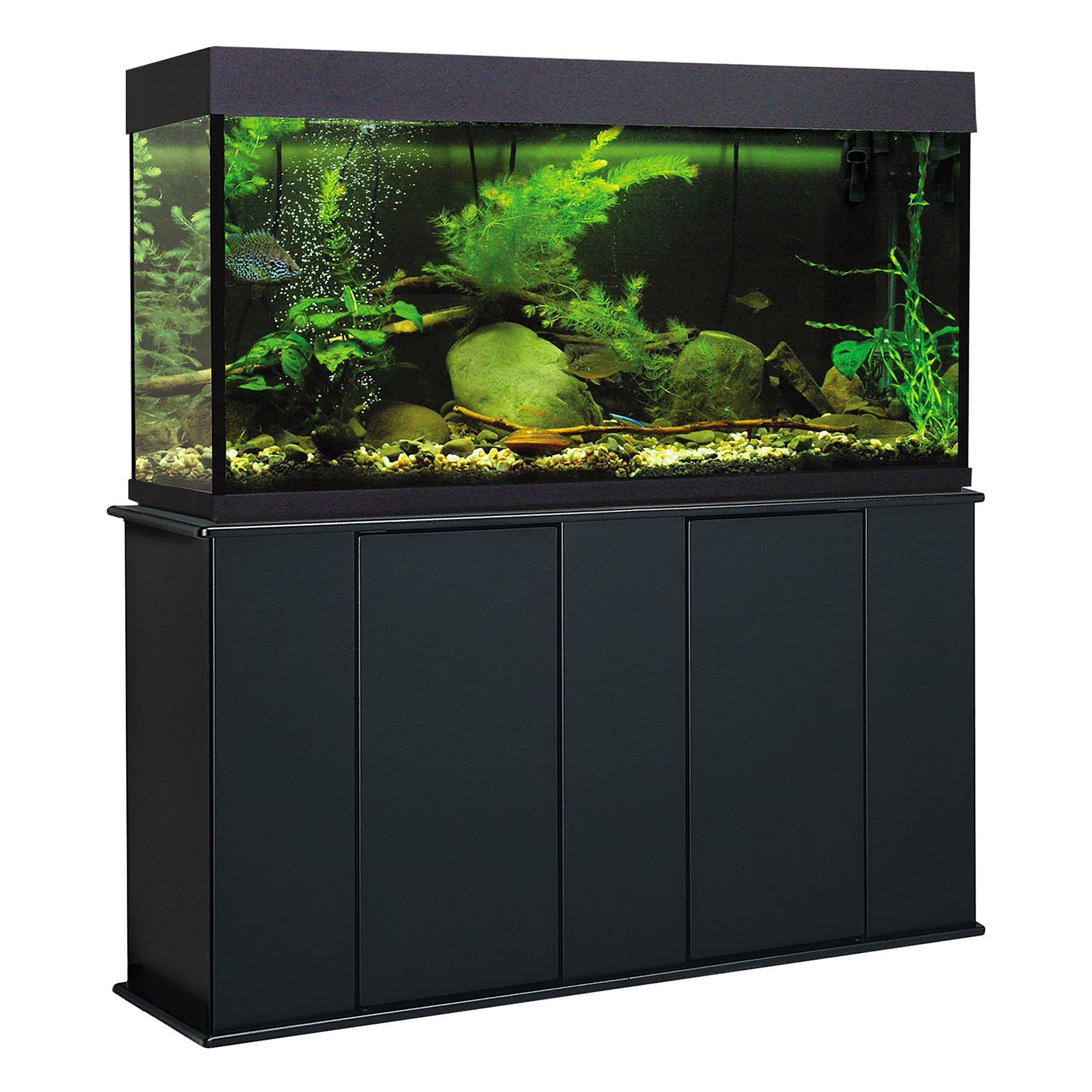 Marco 55 Gallon Upright Aquarium Stand Black