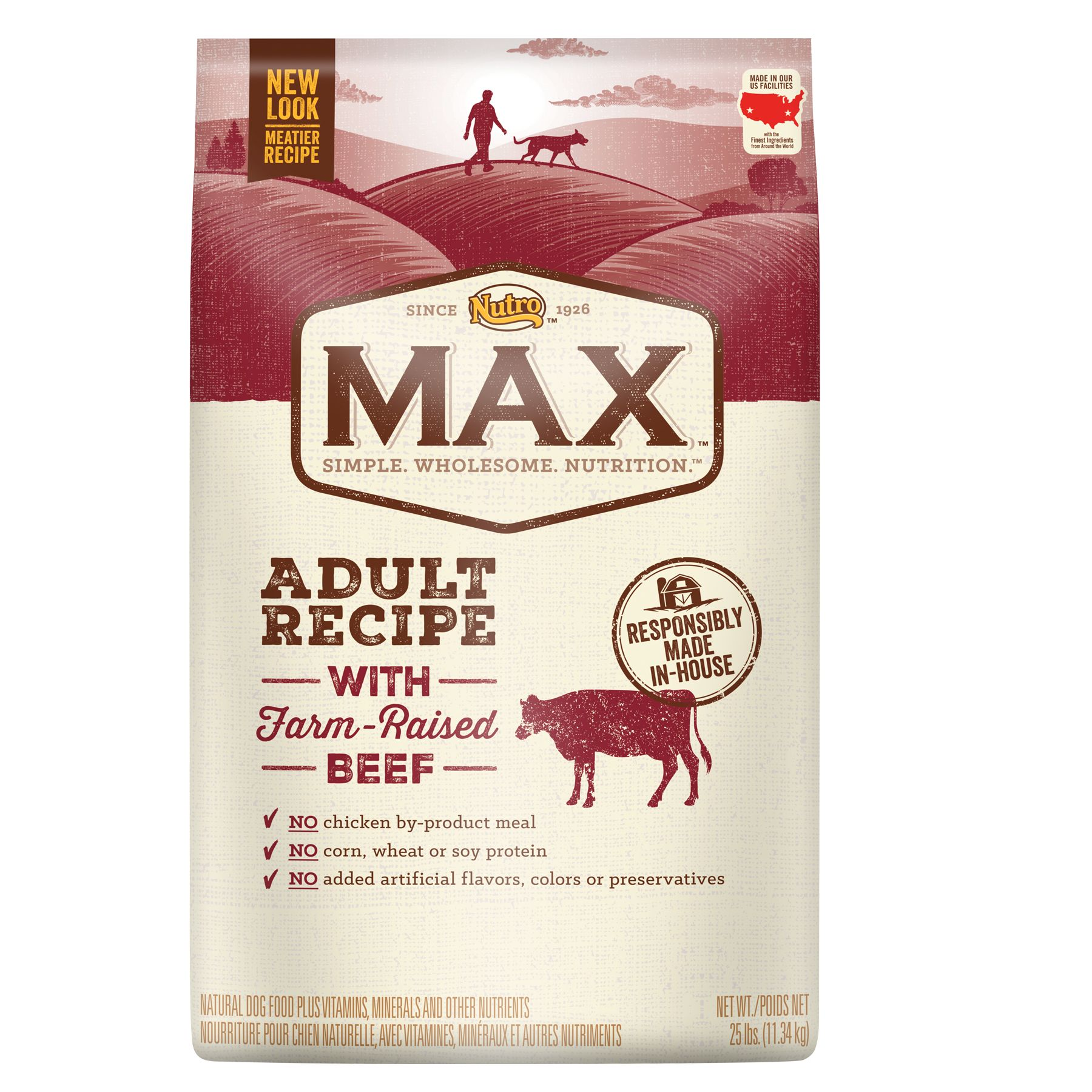 Nutro Max Adult Dog Food Natural Beef Size 25 Lb