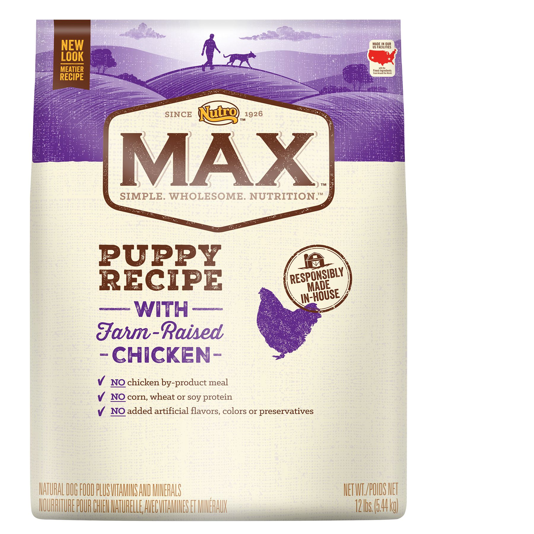 Nutro® Max® Puppy Food - Natural, Chicken size: 12 Lb 5246542