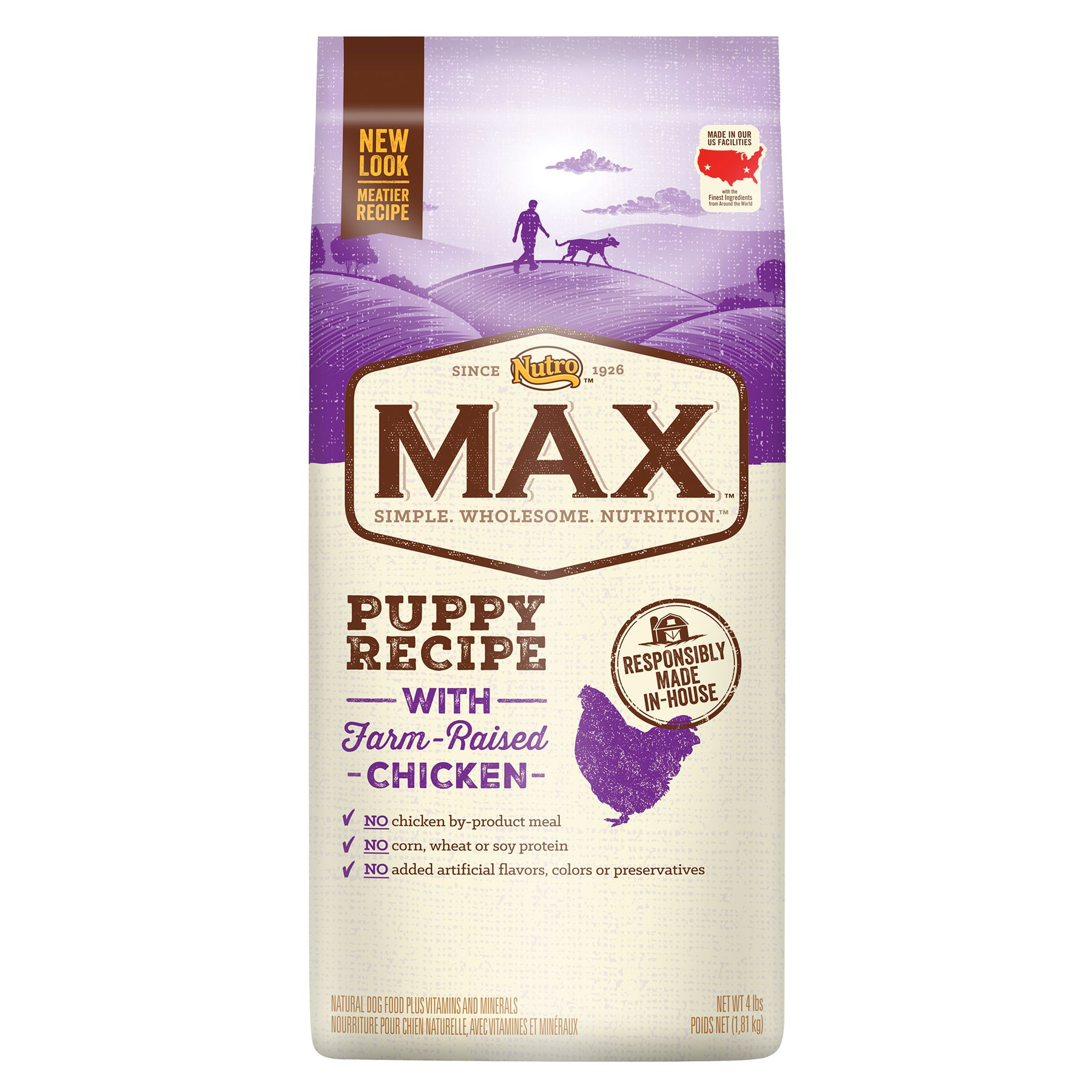 Nutro® Max® Puppy Food - Natural, Chicken size: 4 Lb 5246543