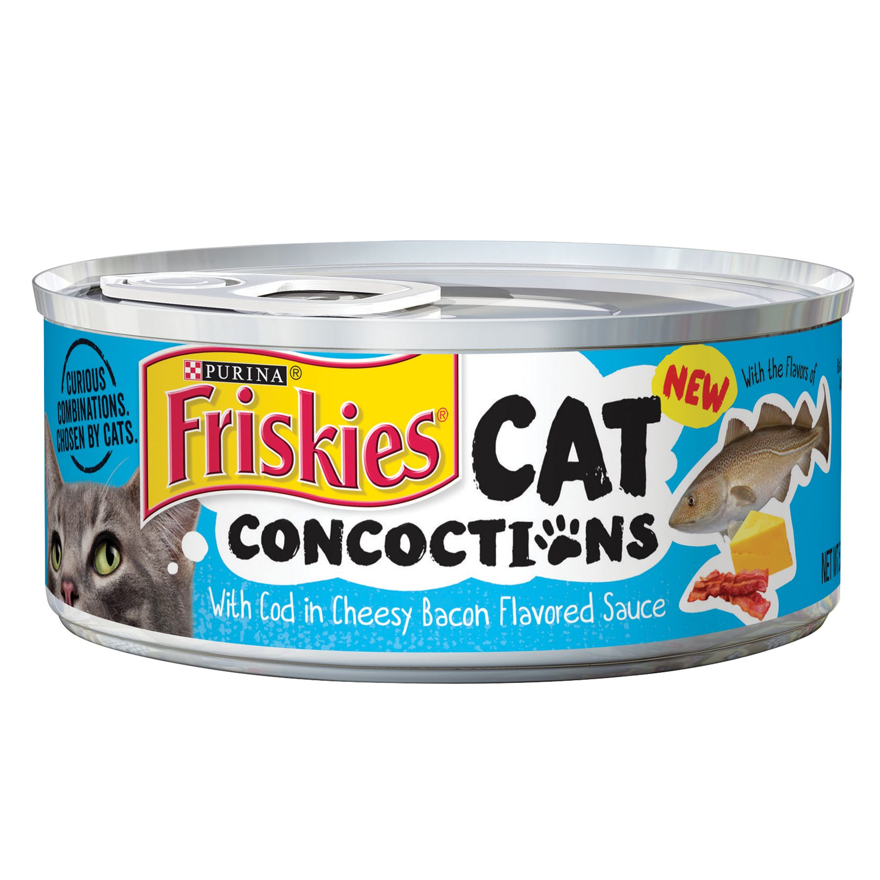 Purina® Friskies® Cat Concoctions Cat Food - Cod in Cheesy Bacon Sauce size: 5.5 Oz 5246554