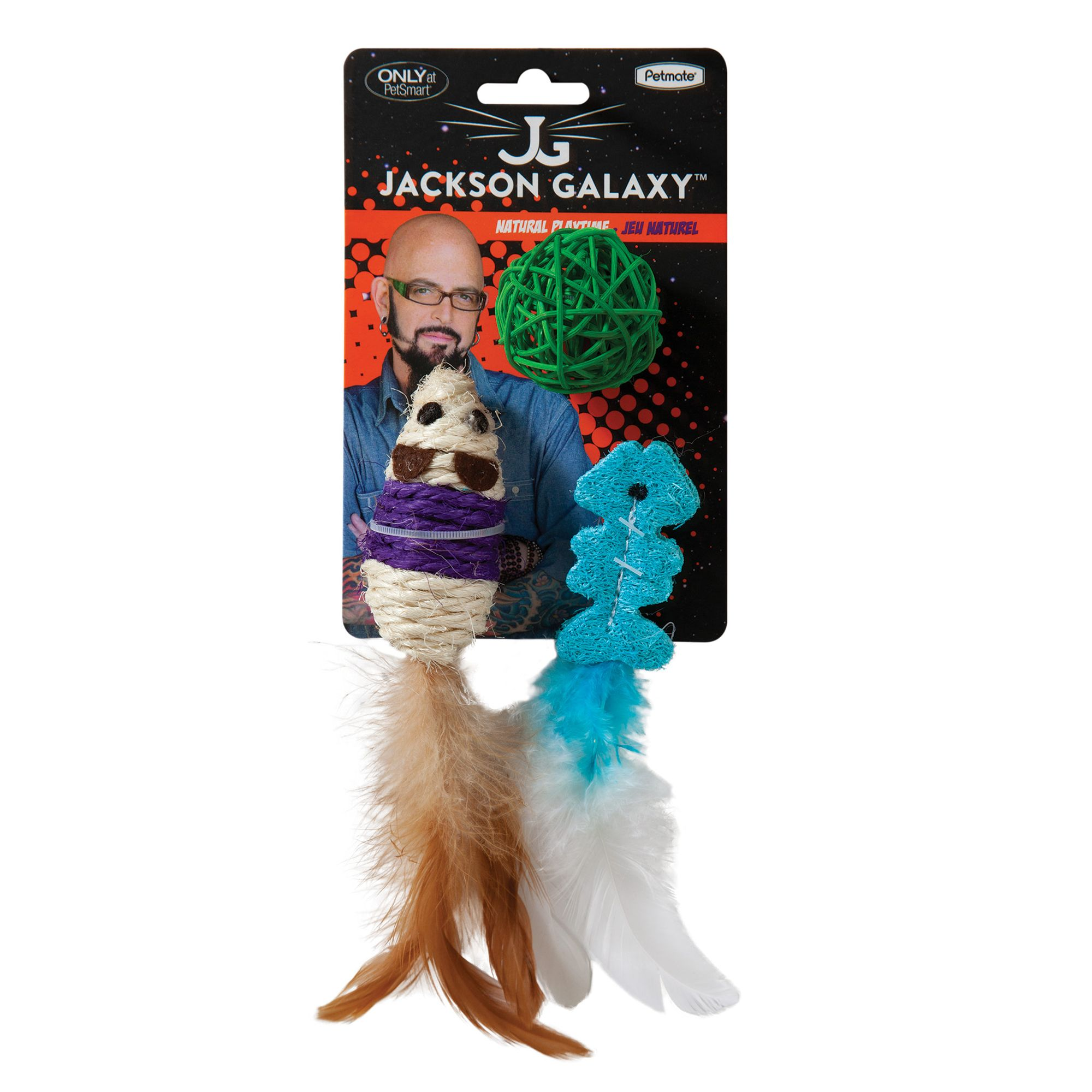 Jackson Galaxy Natural Playtime 3 Pack Cat Toy