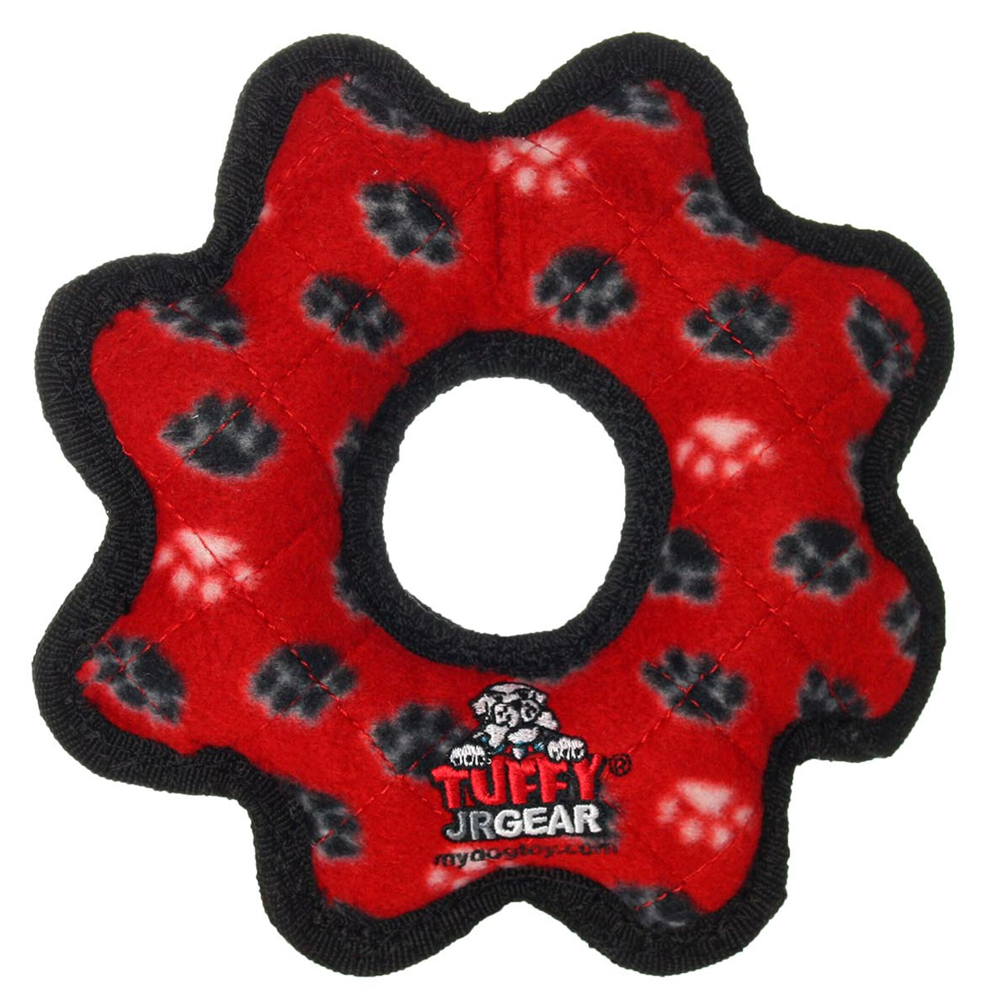 Tuffy Junior Gear Dog Toy Squeaker