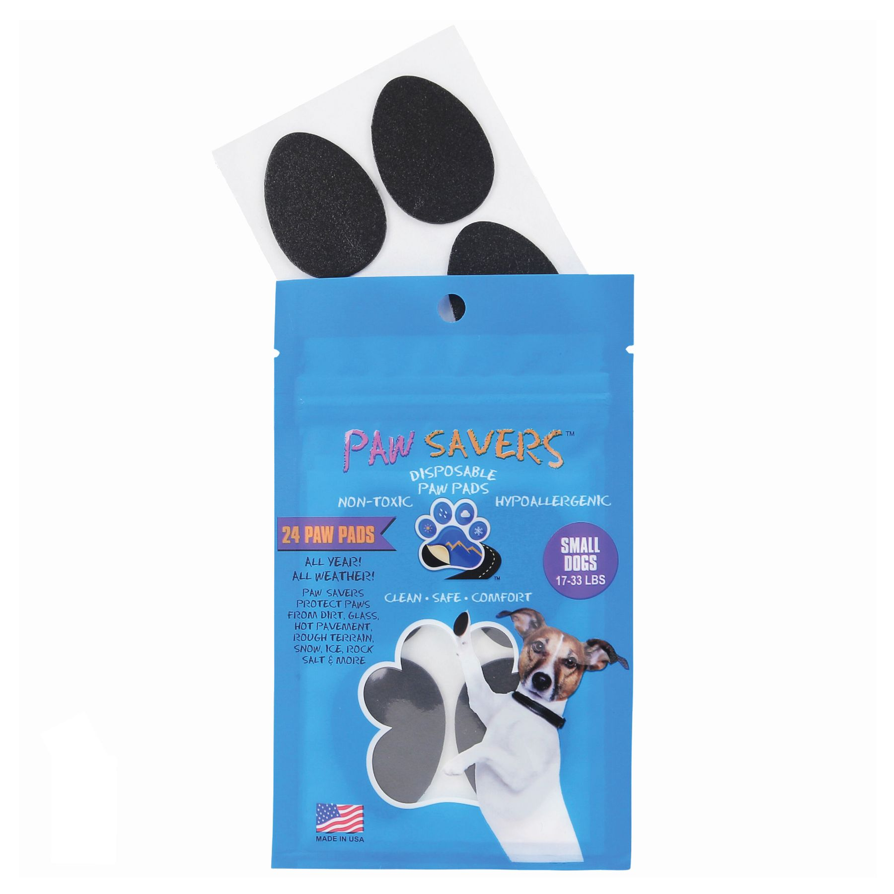 Paw Savers Disposable Paw Pads Size Small