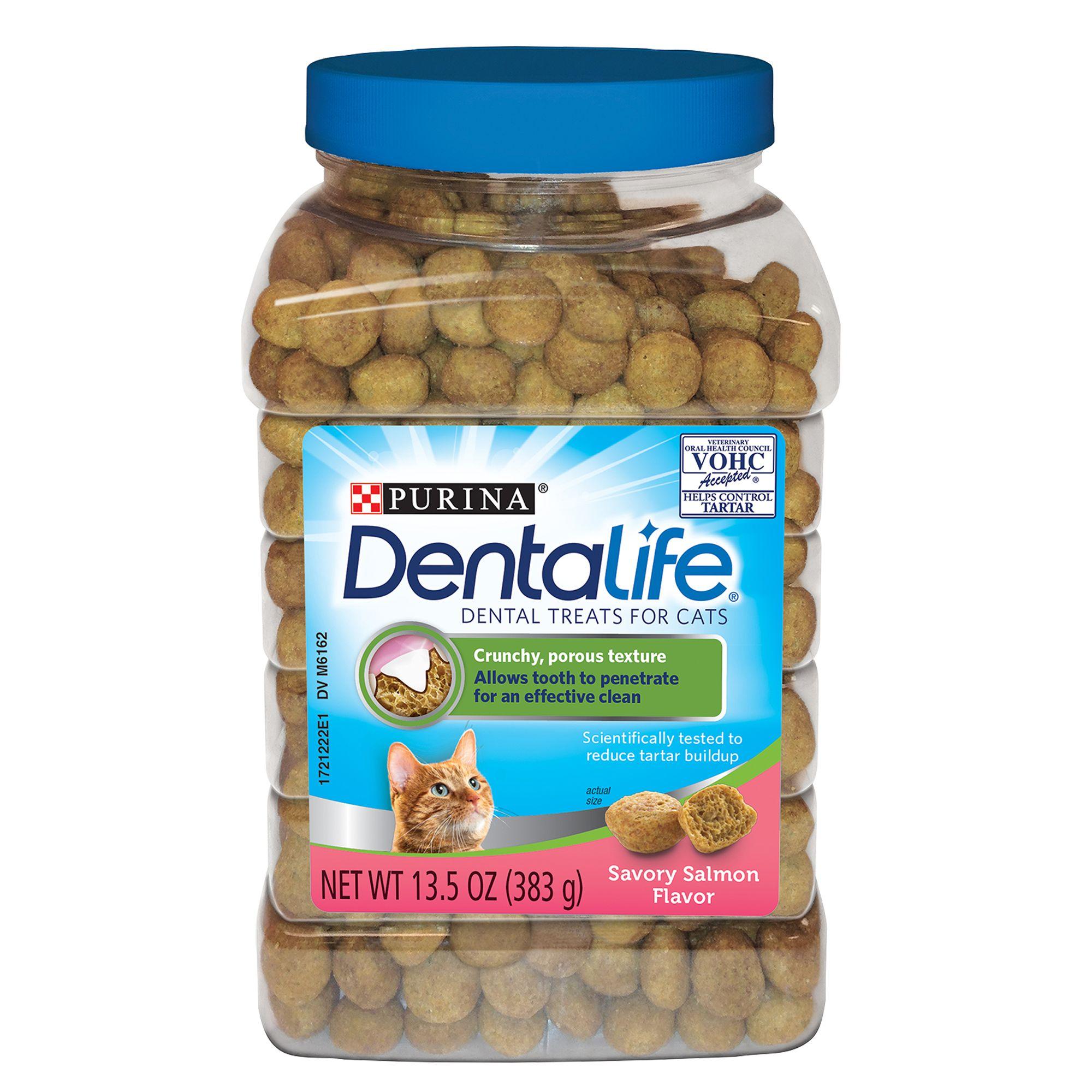 Purina Dentalife Dental Cat Treats Salmon Size 13.5 Oz