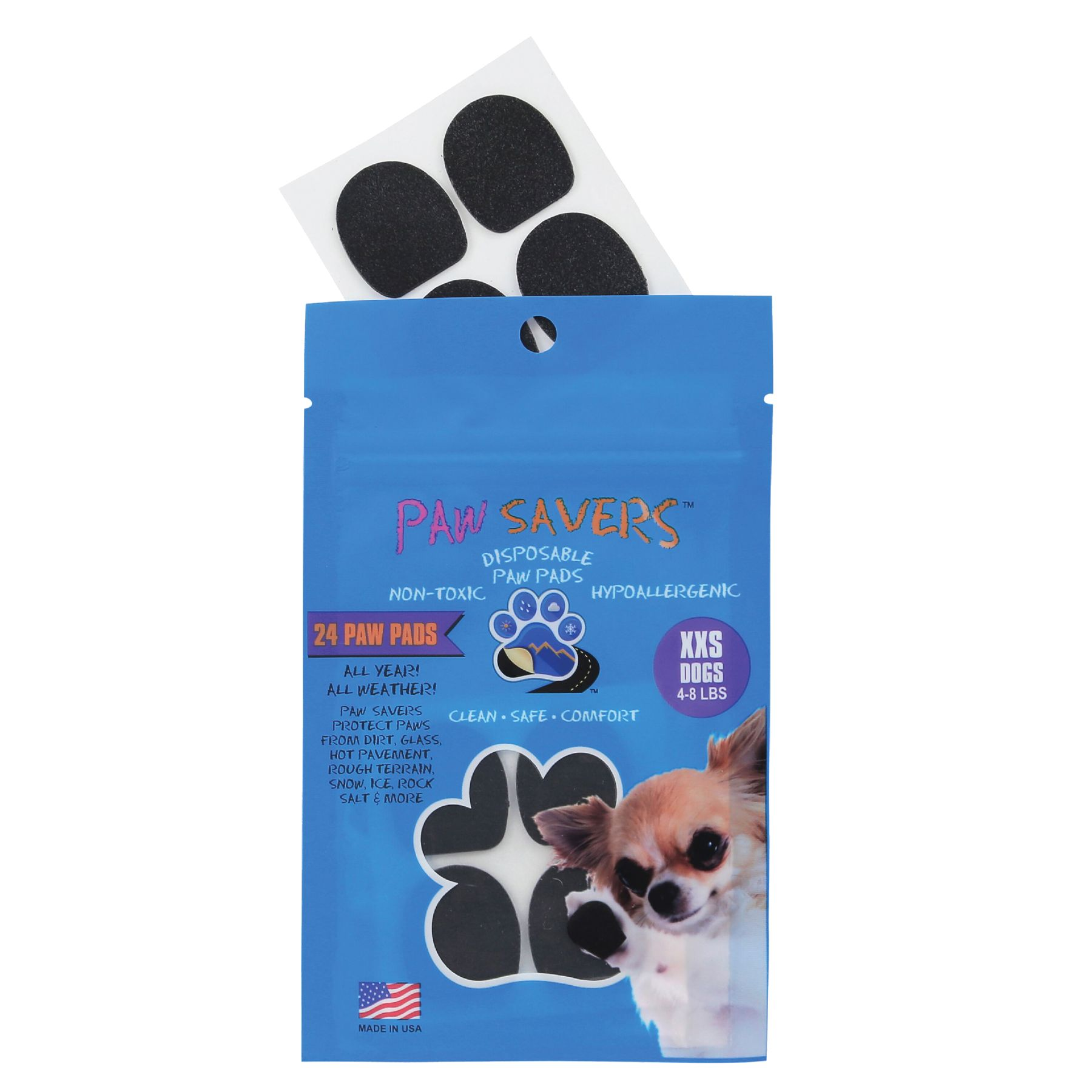 Paw Savers Disposable Paw Pads Size 2x Small
