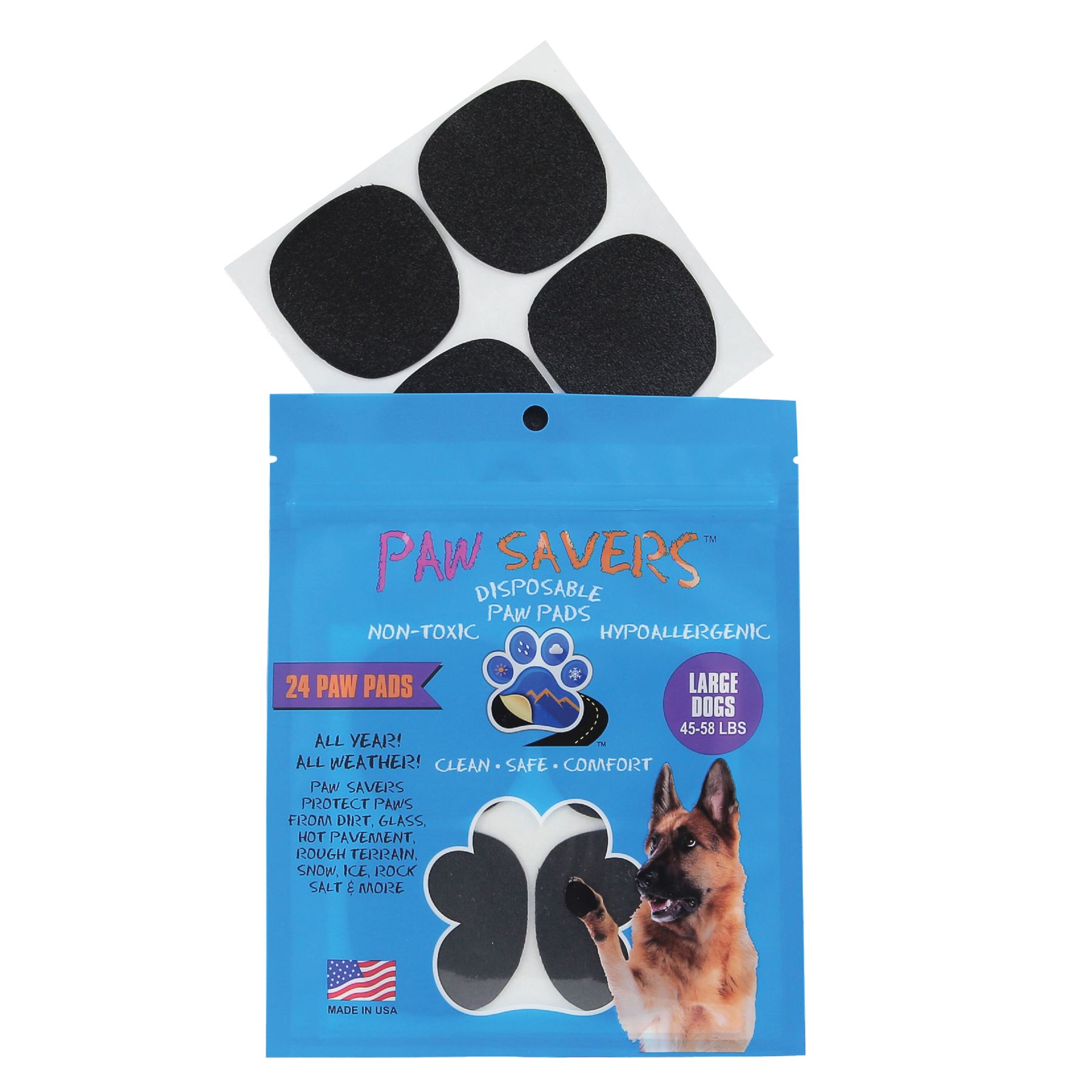 Paw Savers Disposable Paw Pads Size Large