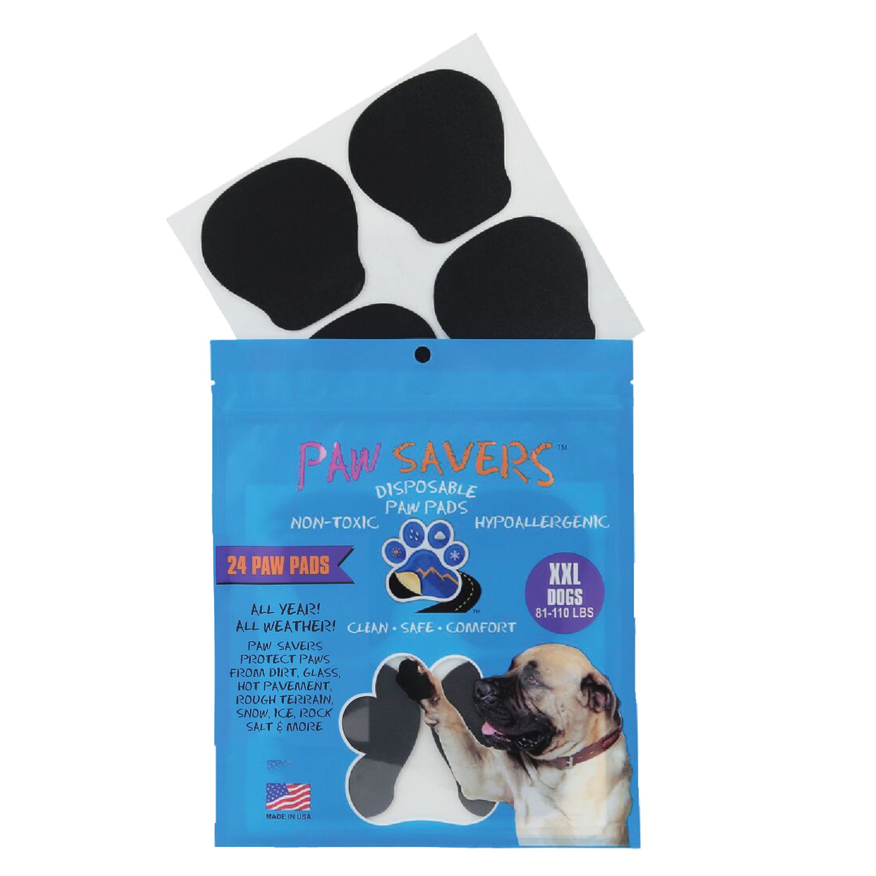 Paw Savers Disposable Paw Pads Size 2x Large