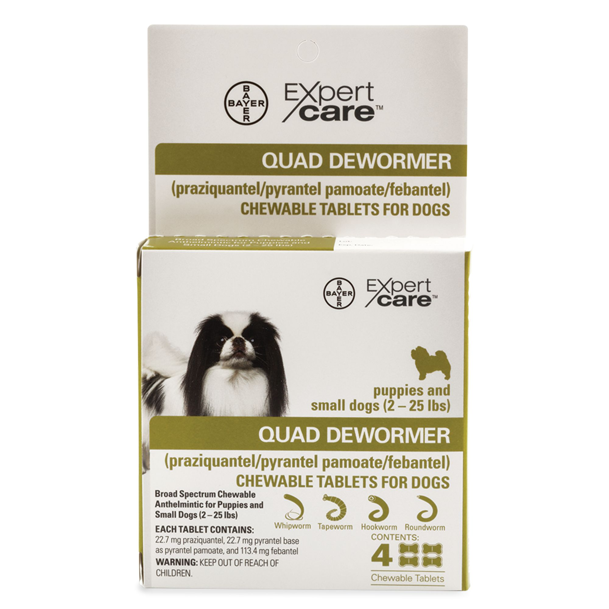 Bayer Expert Care 2 25 Lb Dog Quad Dewormer Size 2 Lb