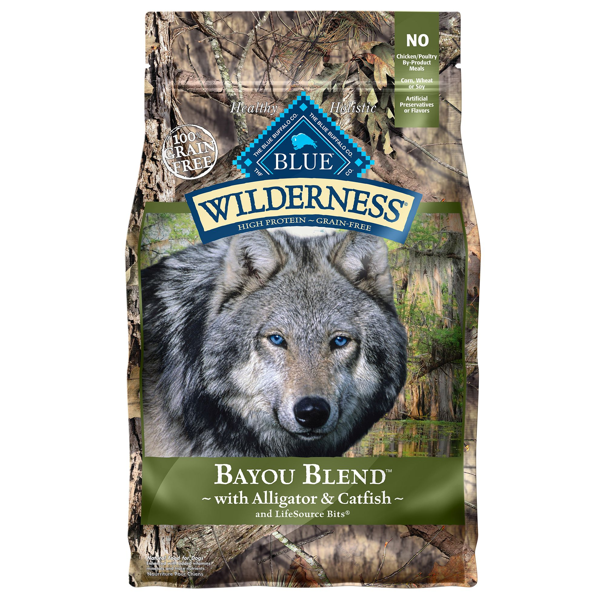 Blue Wilderness® Bayou Blend Dog Food - Grain Free, Gluten Free, Alligator and Catfish size: 4 Lb 5247757